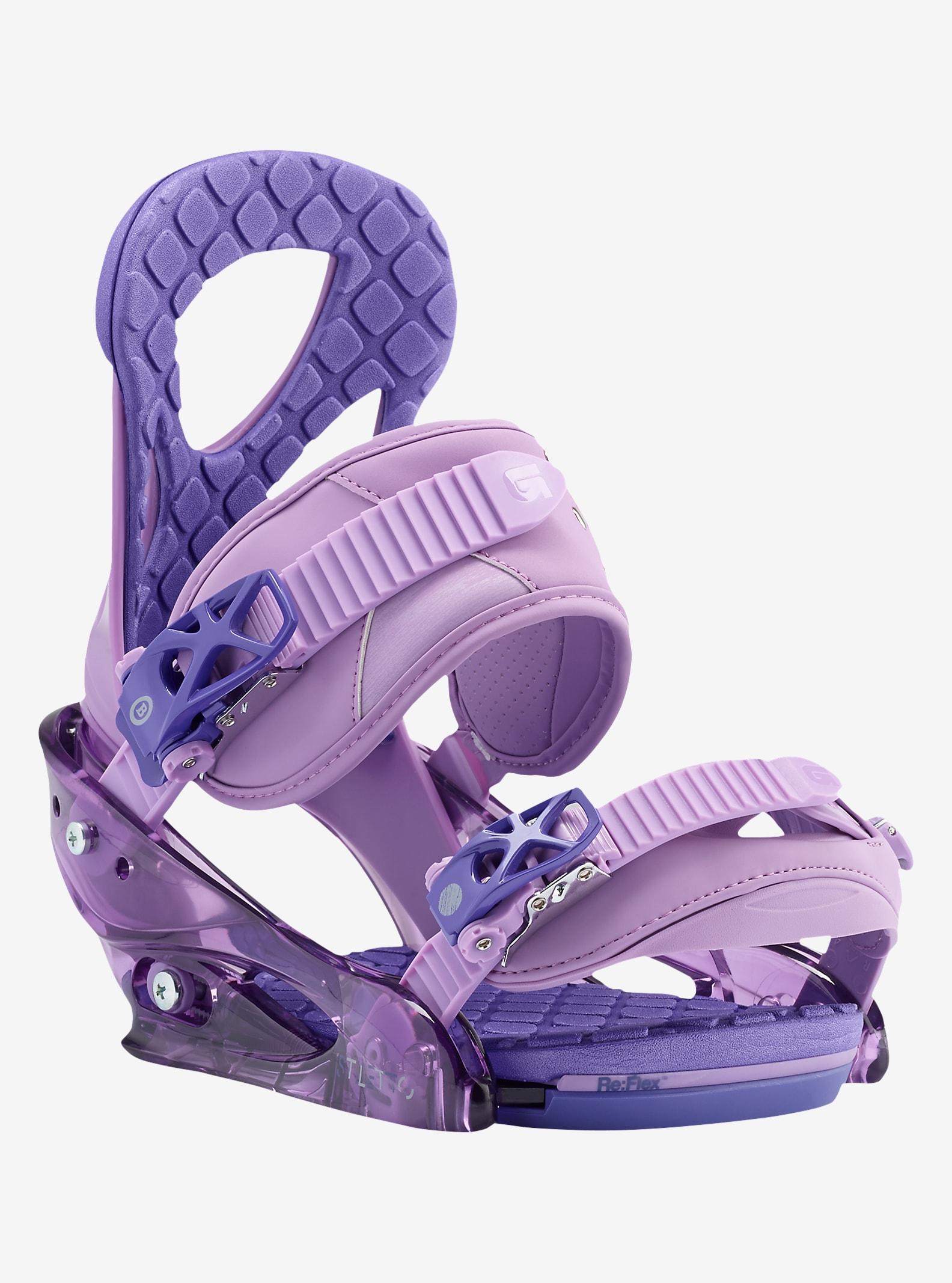 Burton Stiletto Snowboard Binding shown in Purple