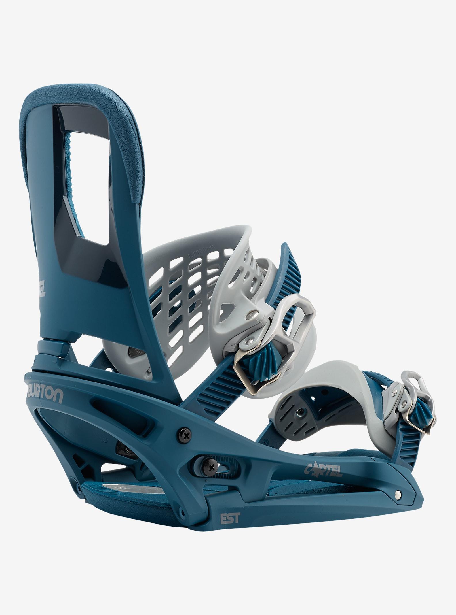 Burton Cartel EST Snowboardbindung angezeigt in Steel Blue