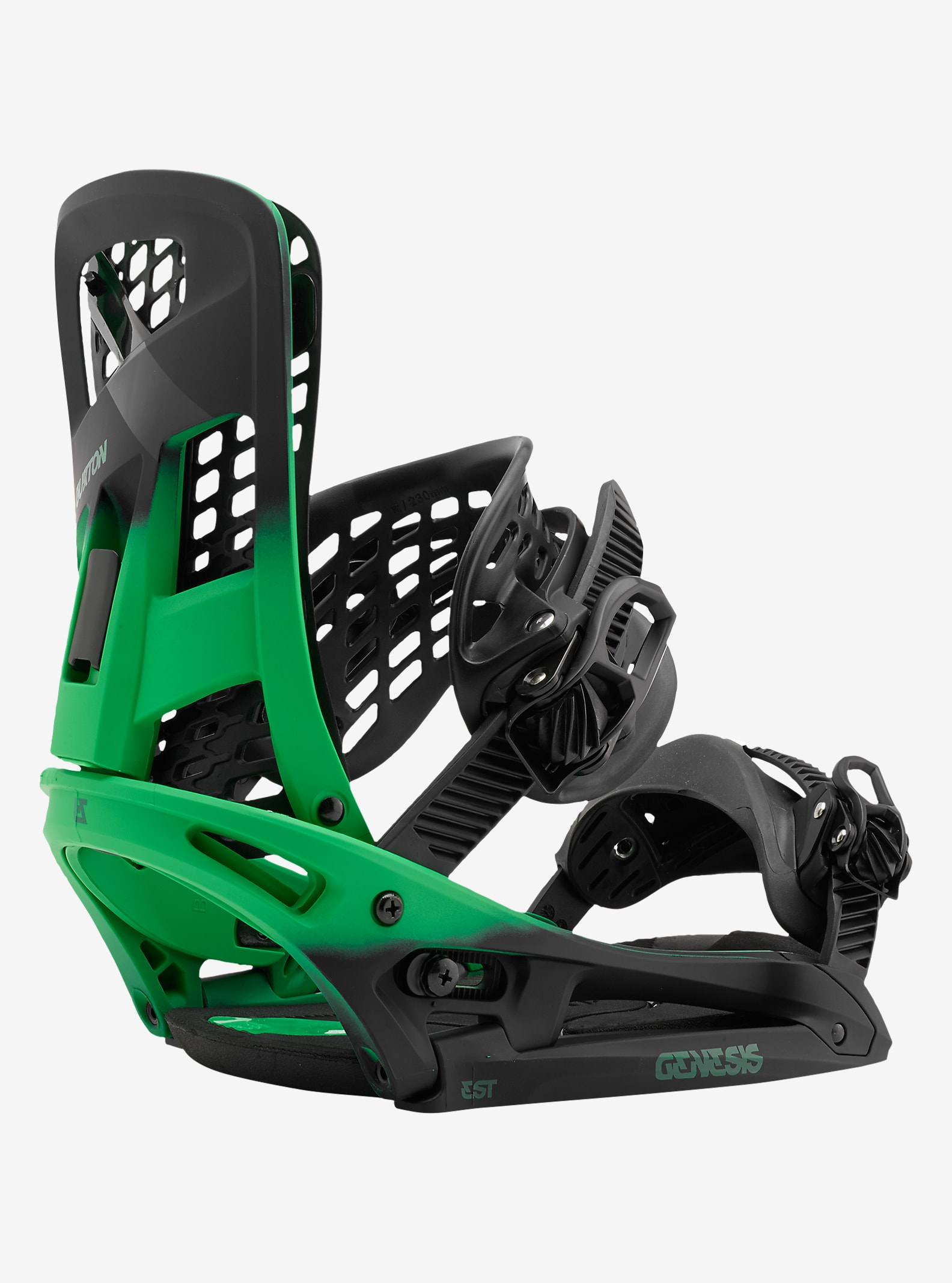 Burton Genesis EST Snowboard Binding shown in Green Fade
