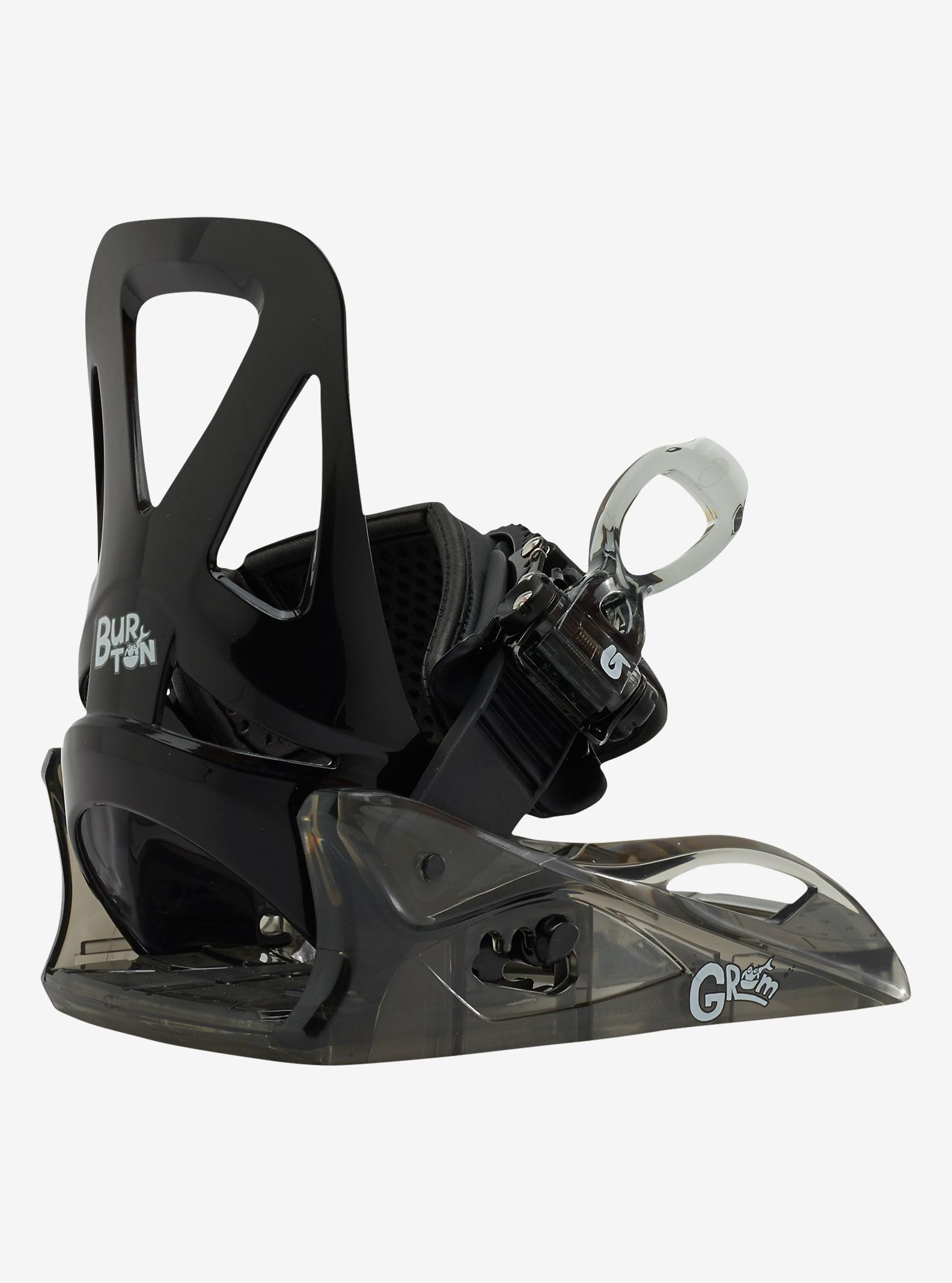 Burton Grom Snowboard Binding shown in Black