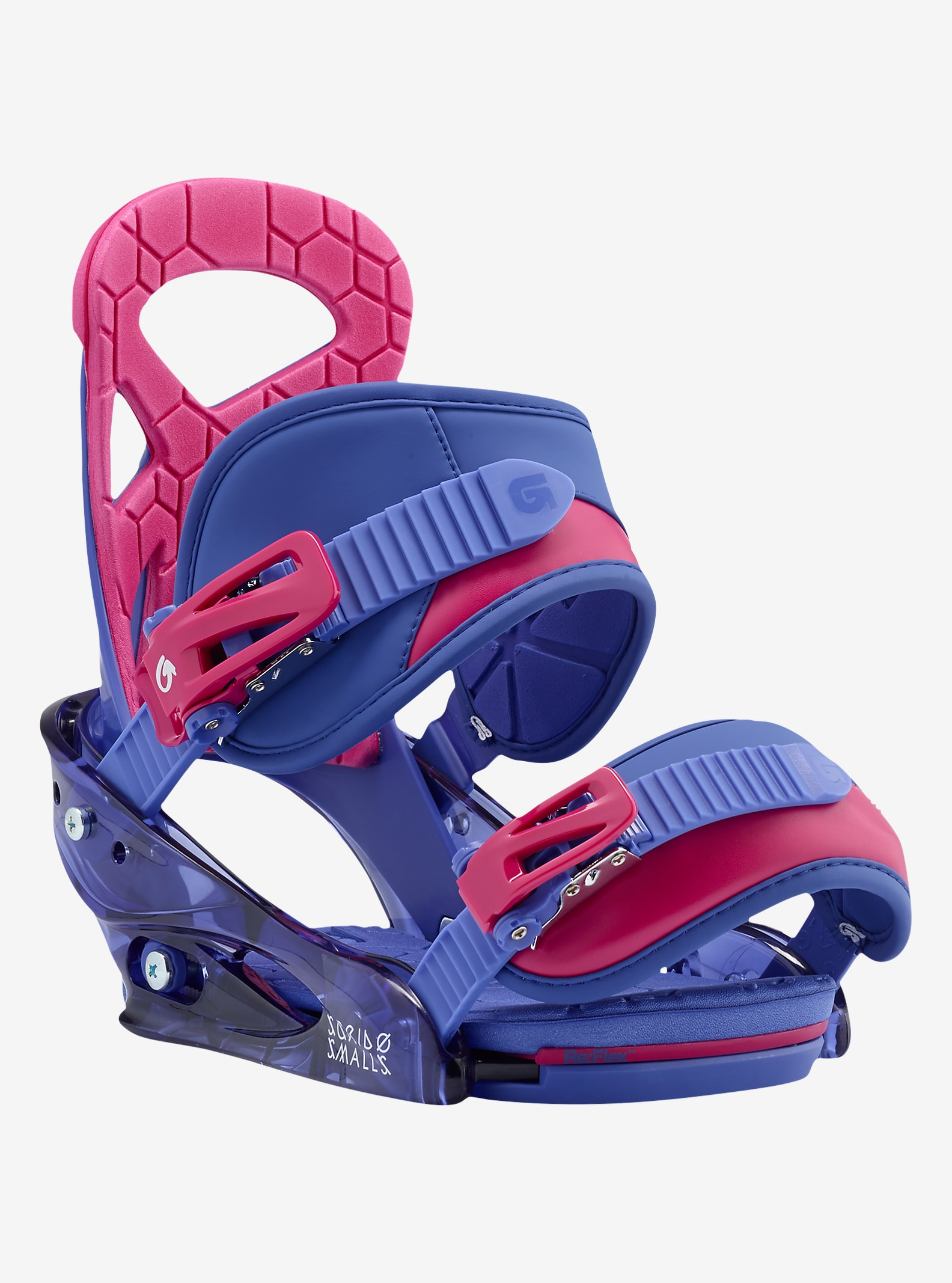 Burton Scribe Smalls Snowboard Binding shown in Deja Blue