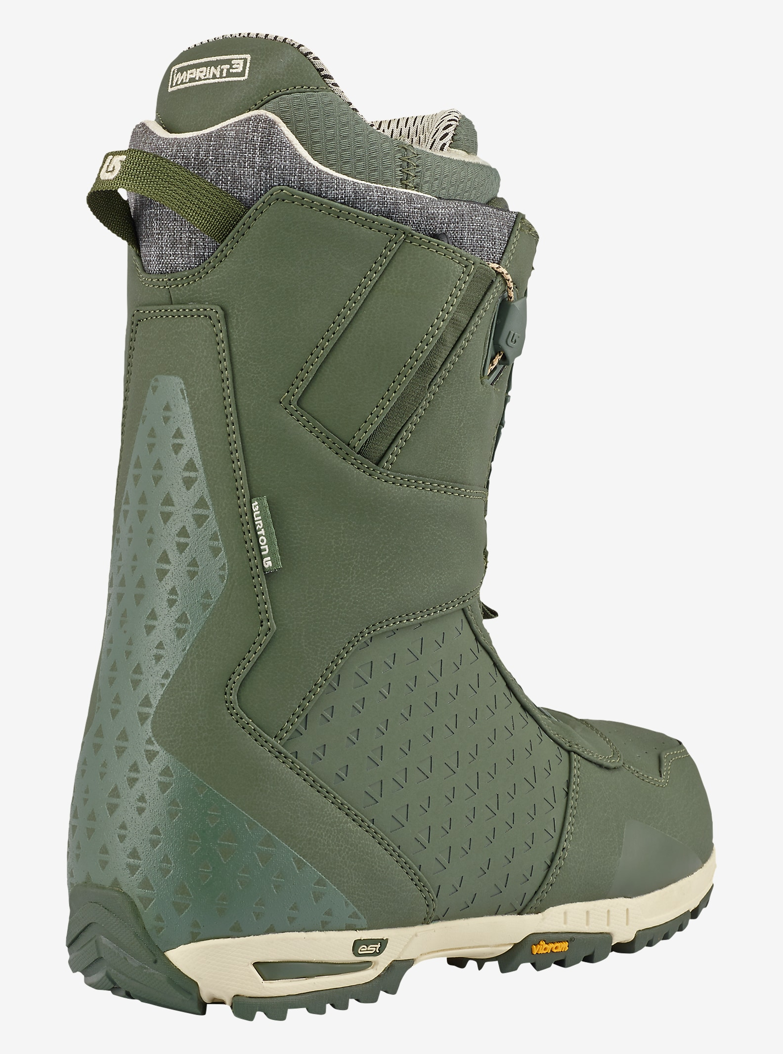 Burton Imperial Snowboard Boot shown in Green