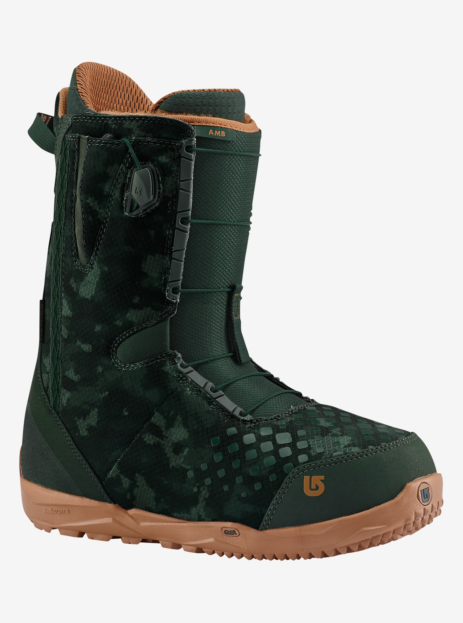Burton AMB Snowboard Boot shown in Green / Camo