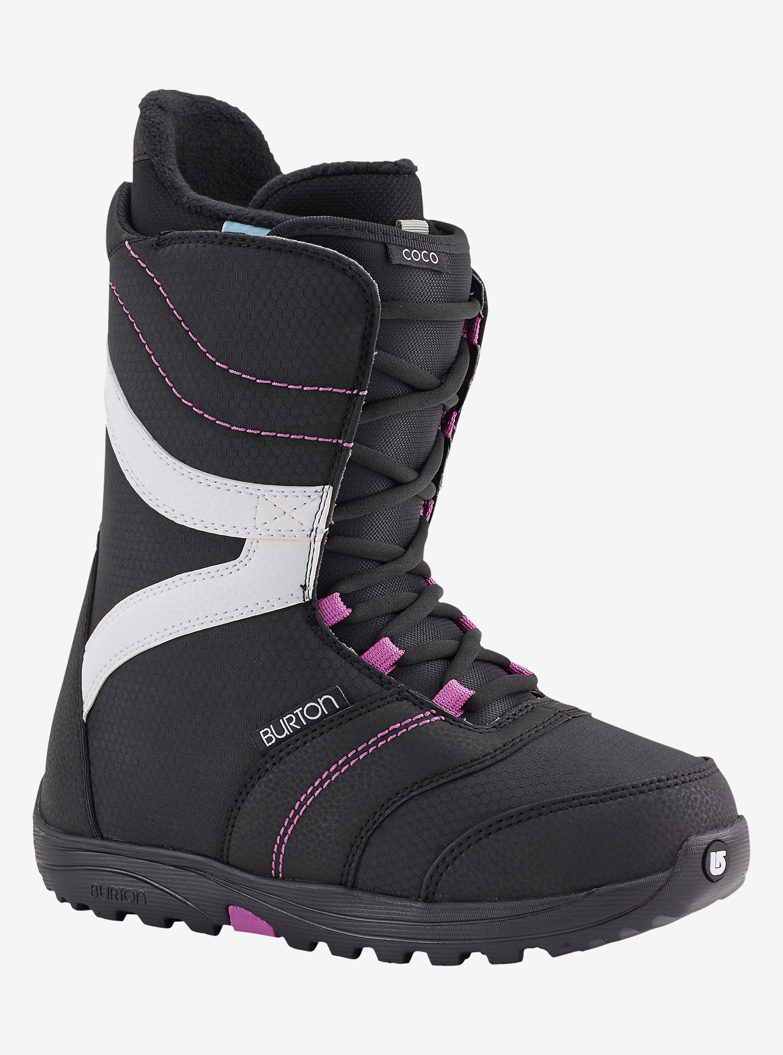 Burton Coco Snowboard Boot shown in Black / Purple