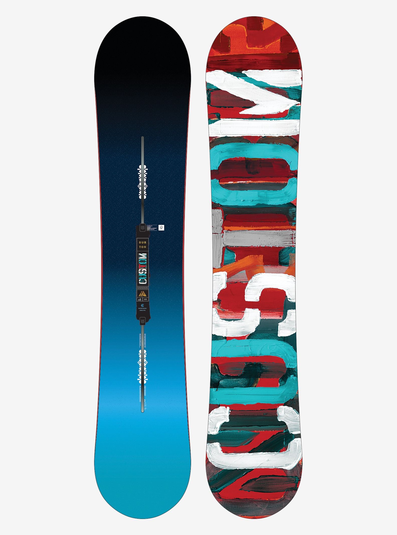 Burton Custom Snowboard shown in 151