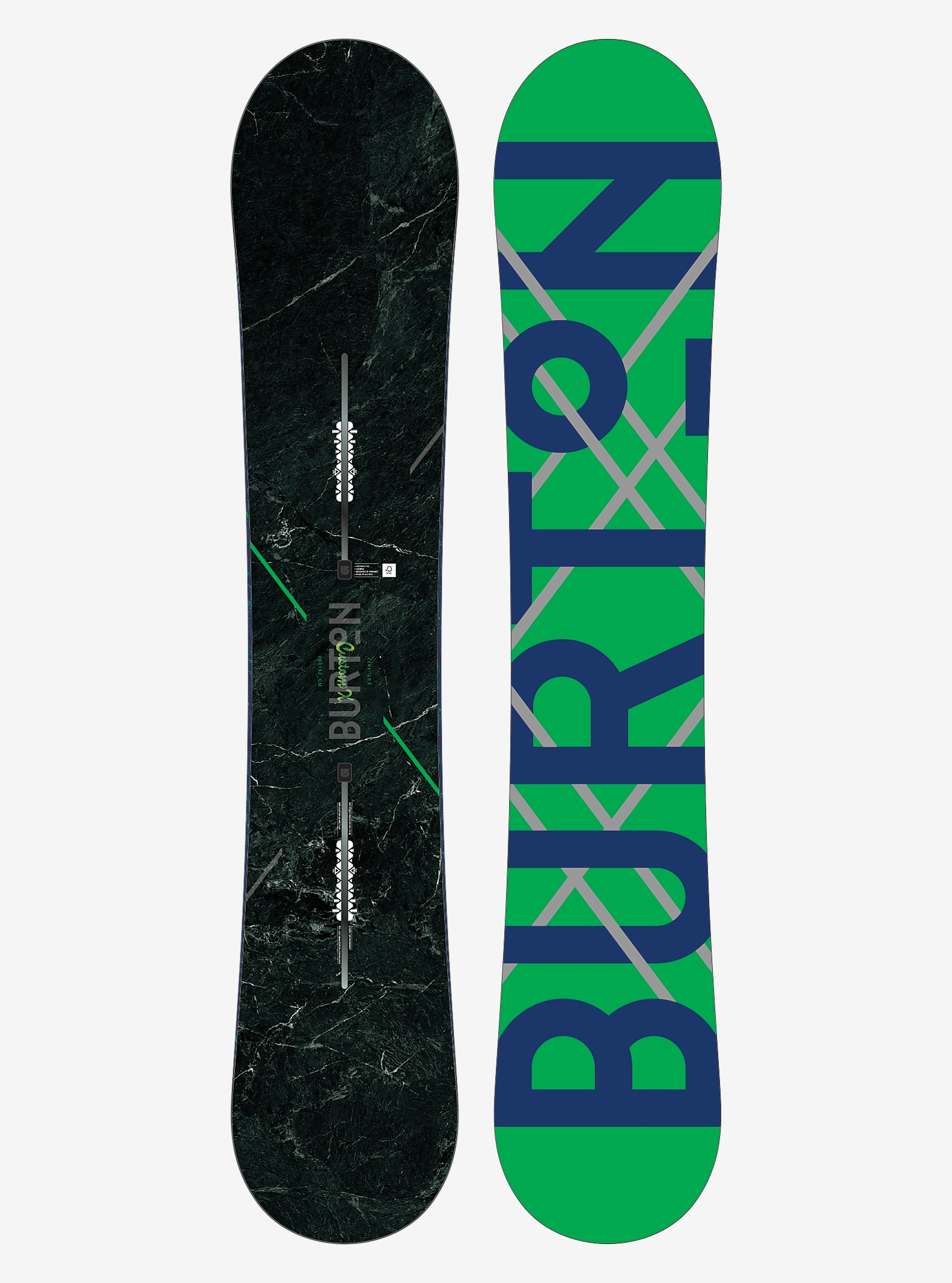 Burton Custom X Snowboard shown in 152