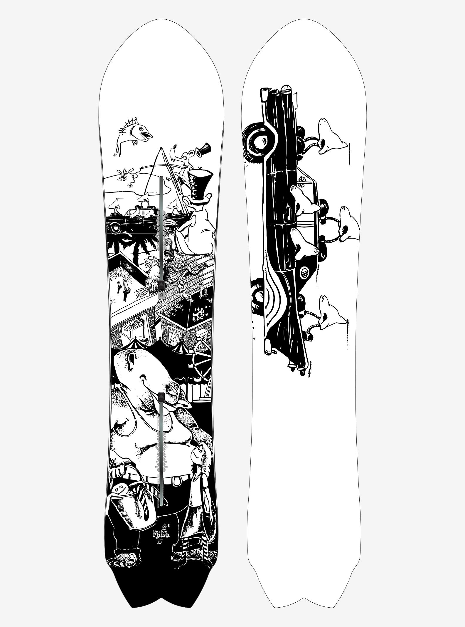 Phish x Burton Fish Snowboard shown in 151