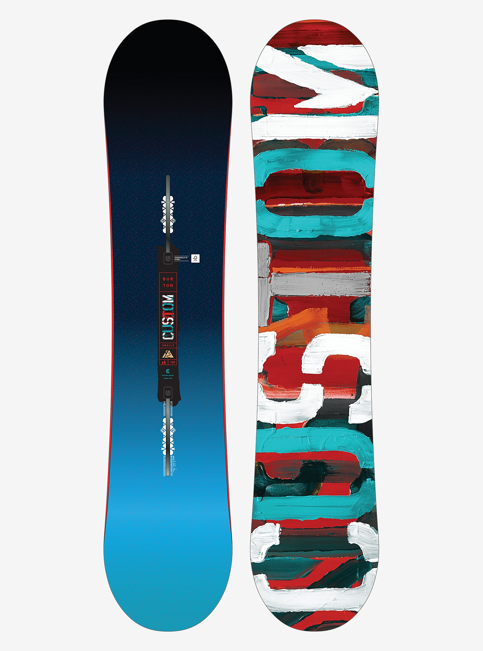 Burton Custom Smalls Snowboard shown in 125