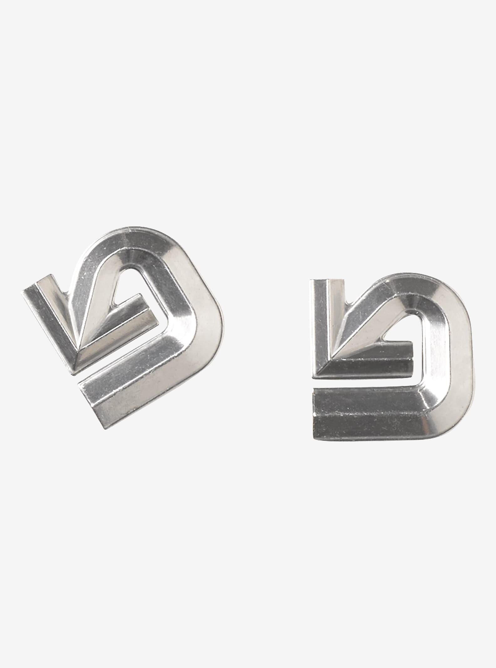 Burton Aluminum Logo Anti-Rutsch-Pad angezeigt in Silver