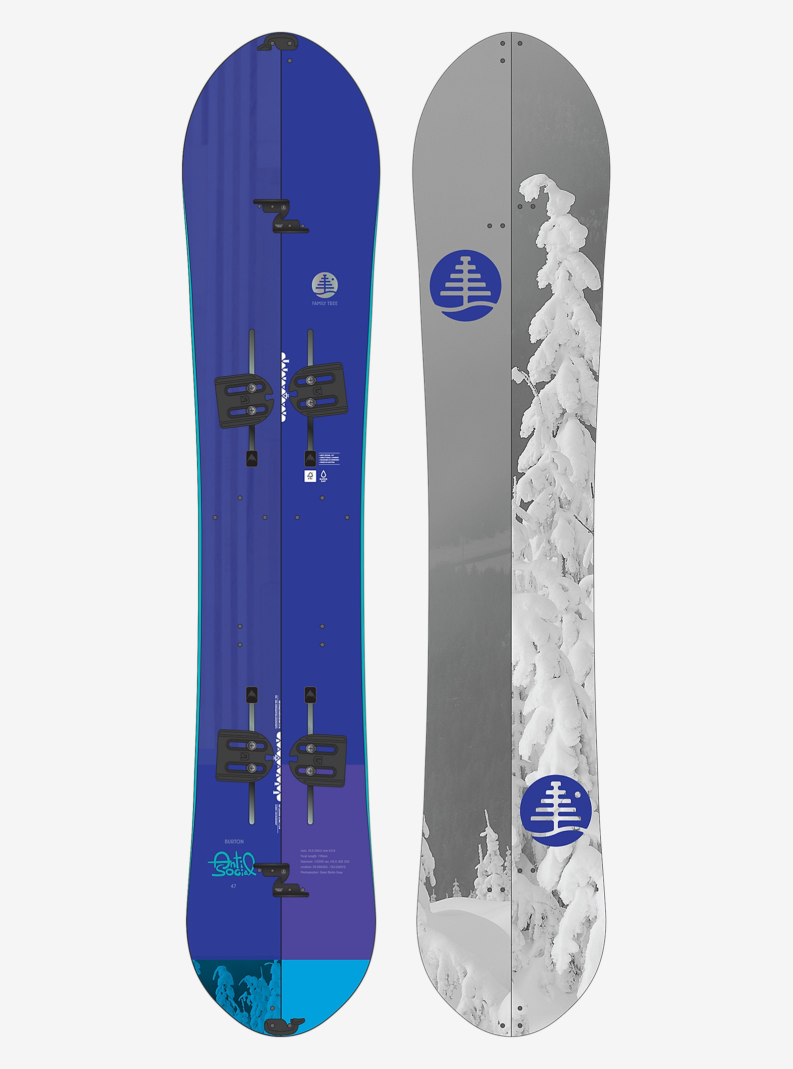 Burton Family Tree Anti-Social Split Snowboard angezeigt in 147