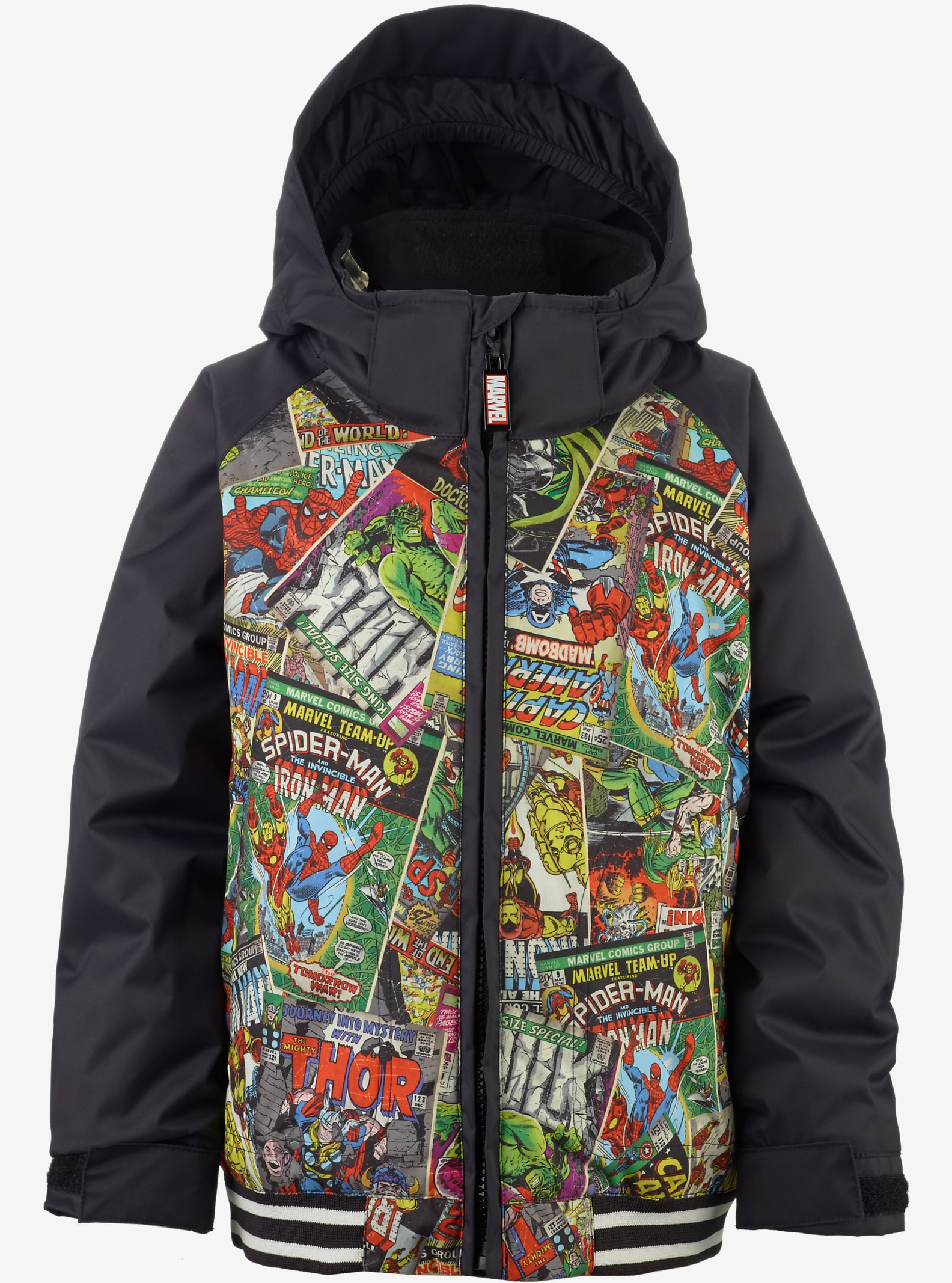 Marvel® x Burton Minishred Game Day Jacke für Jungen angezeigt in Marvel / True Black © 2016 MARVEL