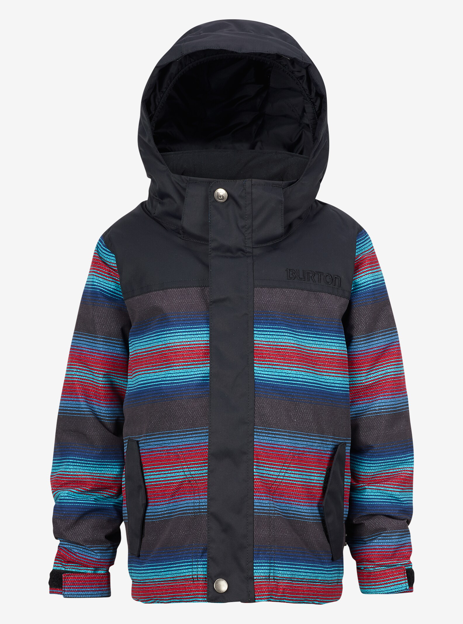 Burton Boys' Minishred Amped Jacket shown in Seaside Stripe / True Black