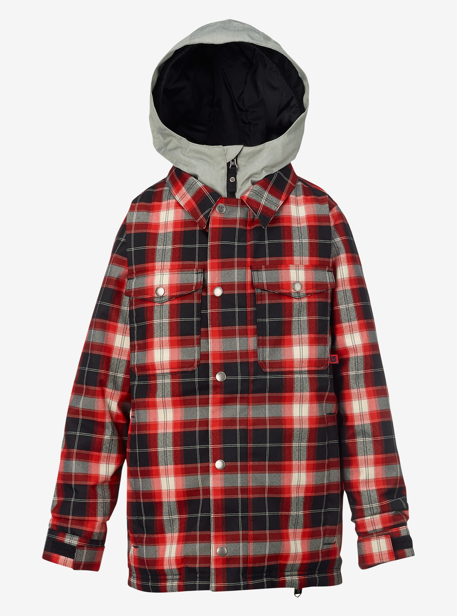 Burton Boys' Uproar Jacket shown in Process Red Miked Plaid