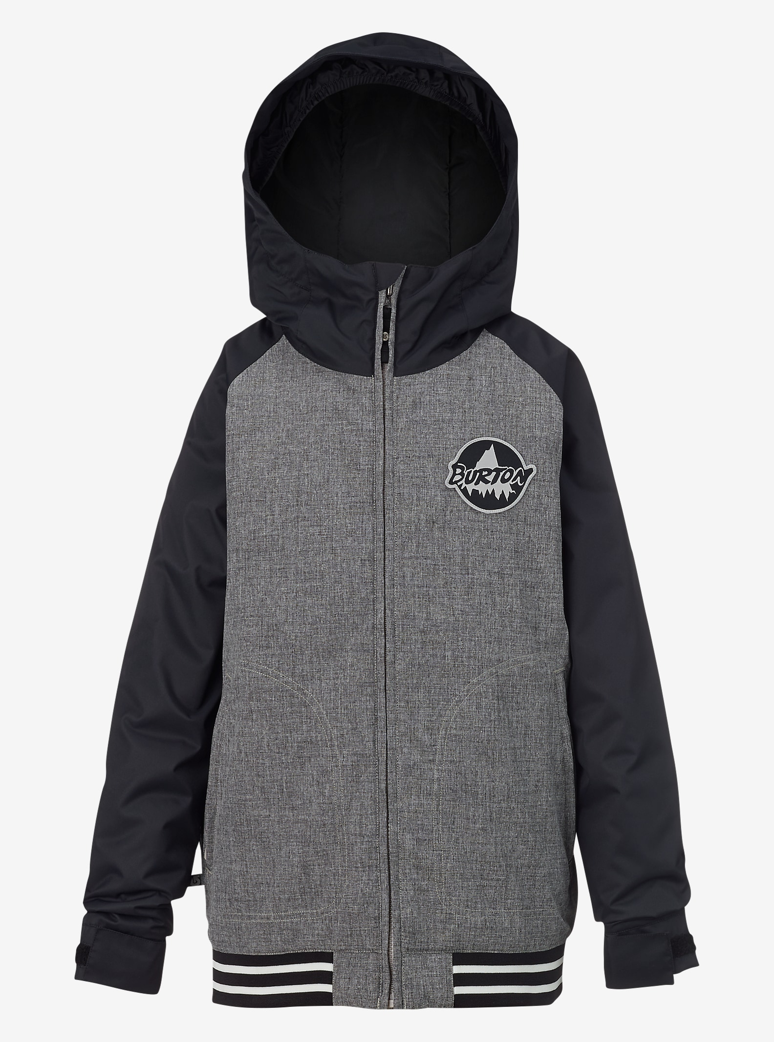 Burton Game Day Jacke für Jungen angezeigt in Heather Iron Gray / True Black