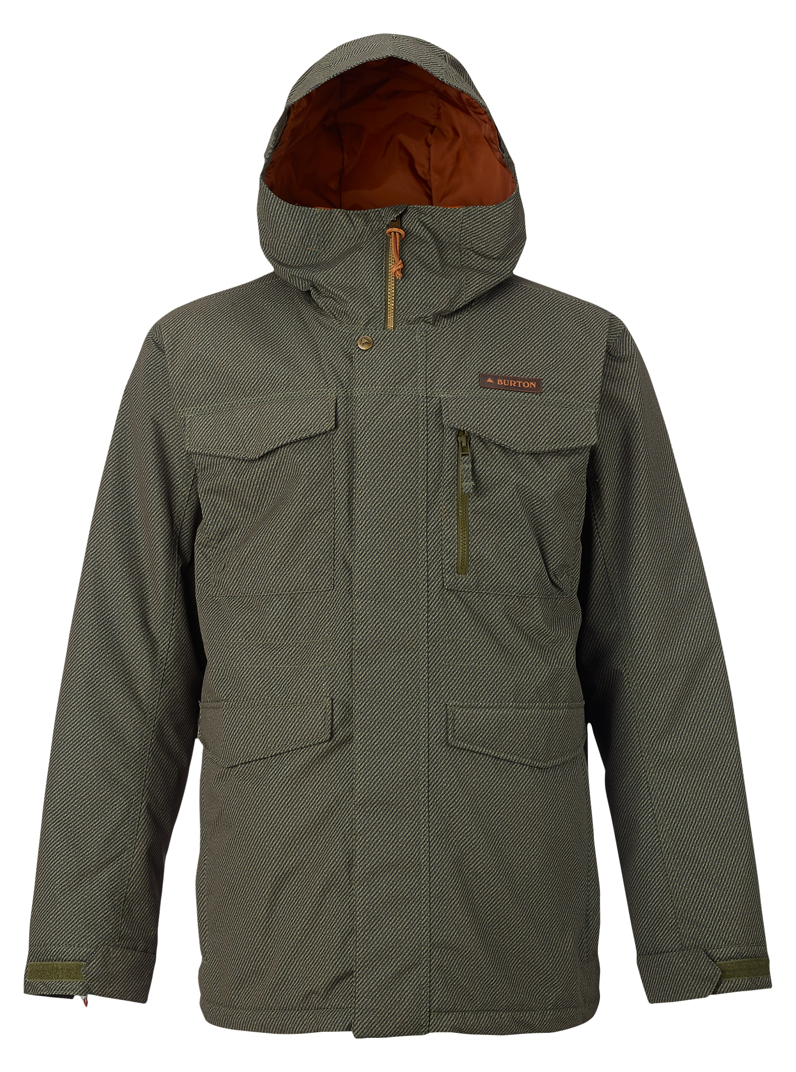 Burton Covert Jacket shown in Keef Underpass Twill