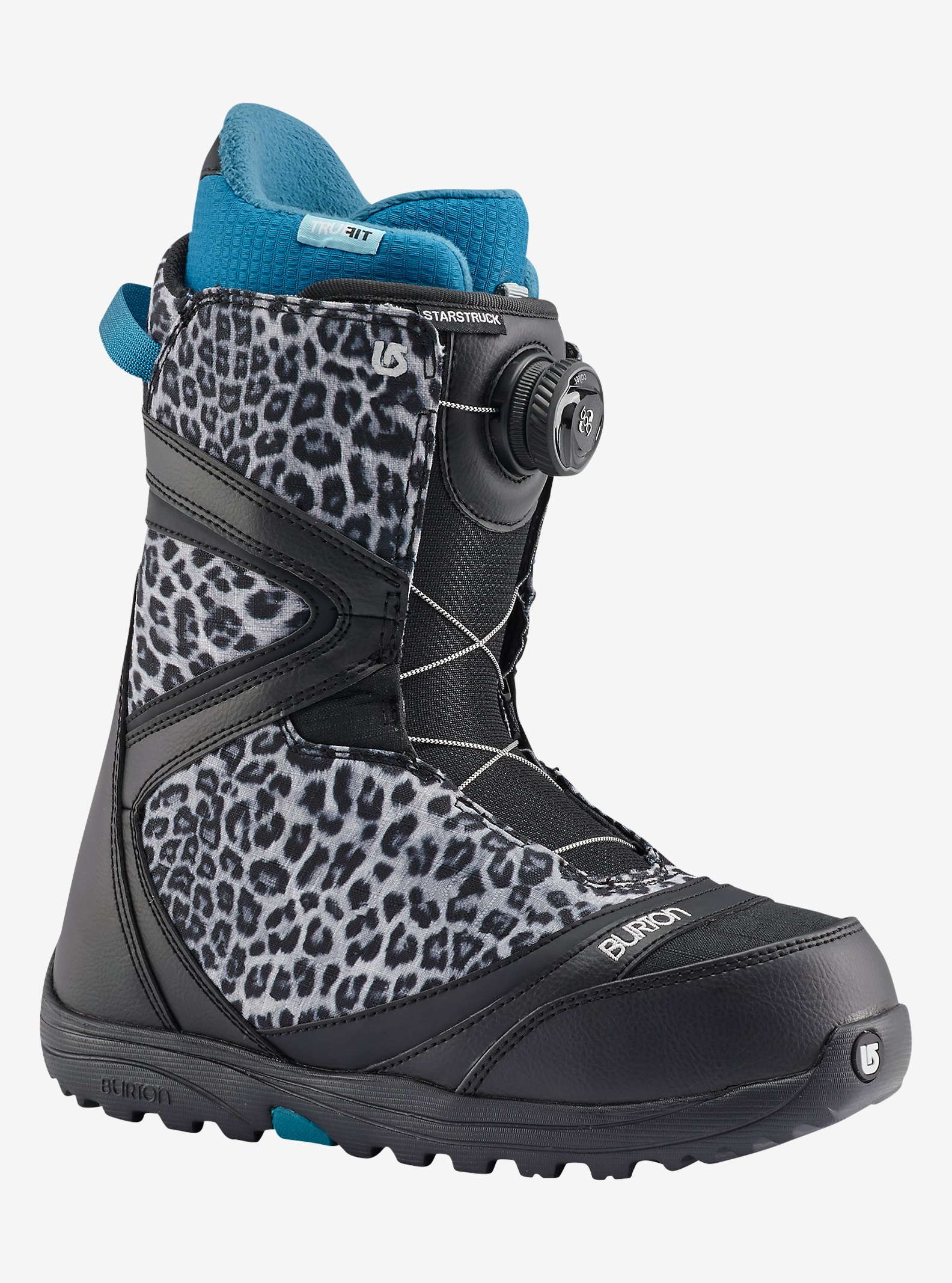 Burton Starstruck Boa® Snowboard Boot shown in Black / Snow Leopard