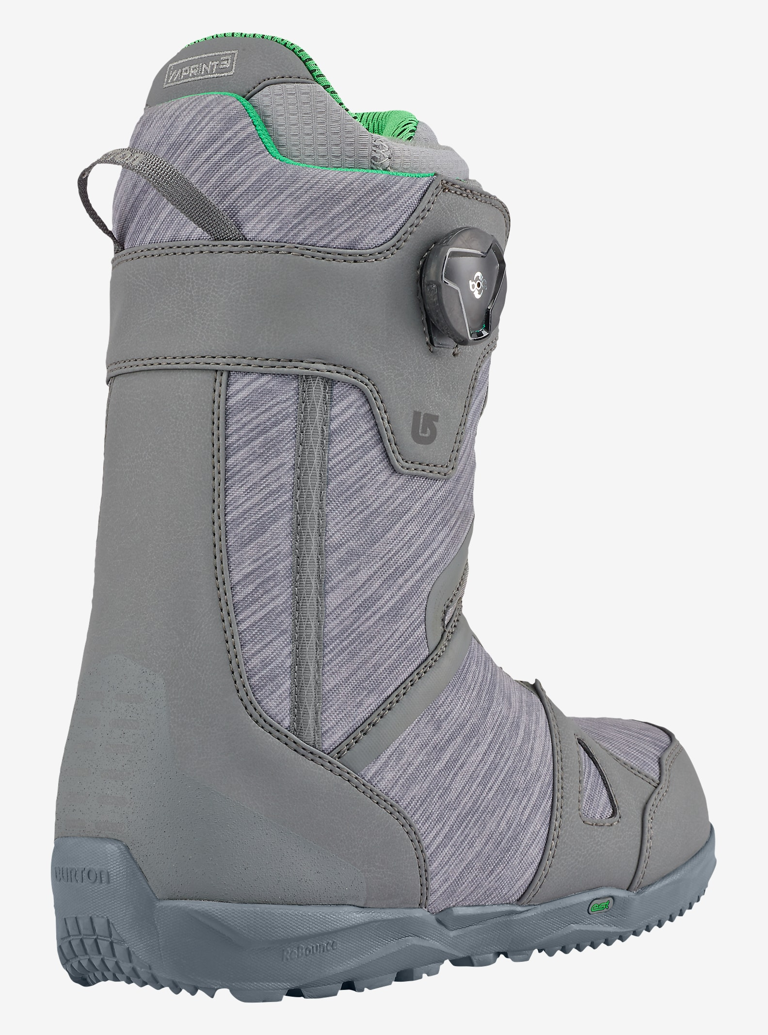 Burton Concord Boa® Snowboard Boot shown in Gray / Green