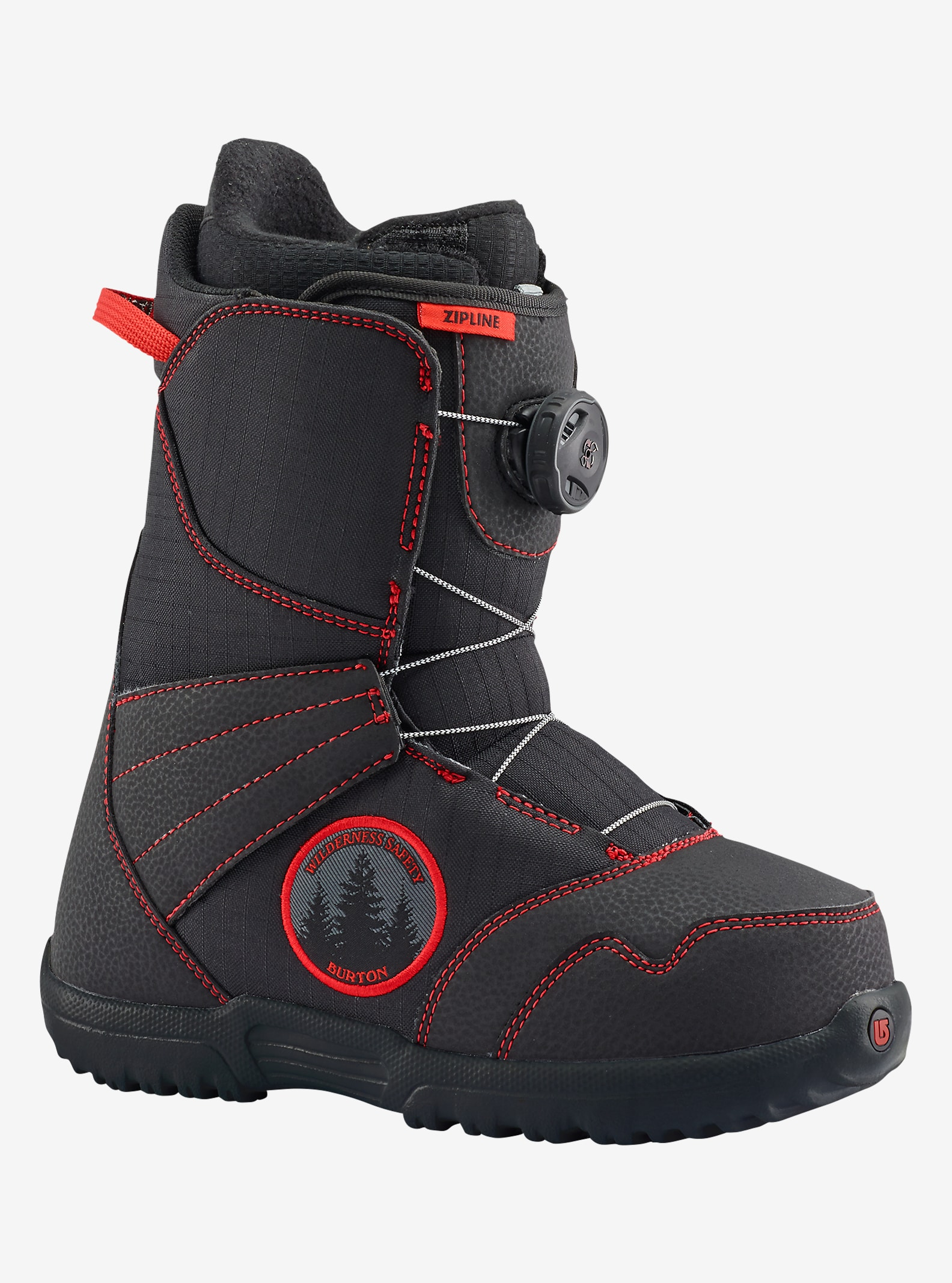 Burton Zipline Boa® Snowboard Boot shown in Black / Red