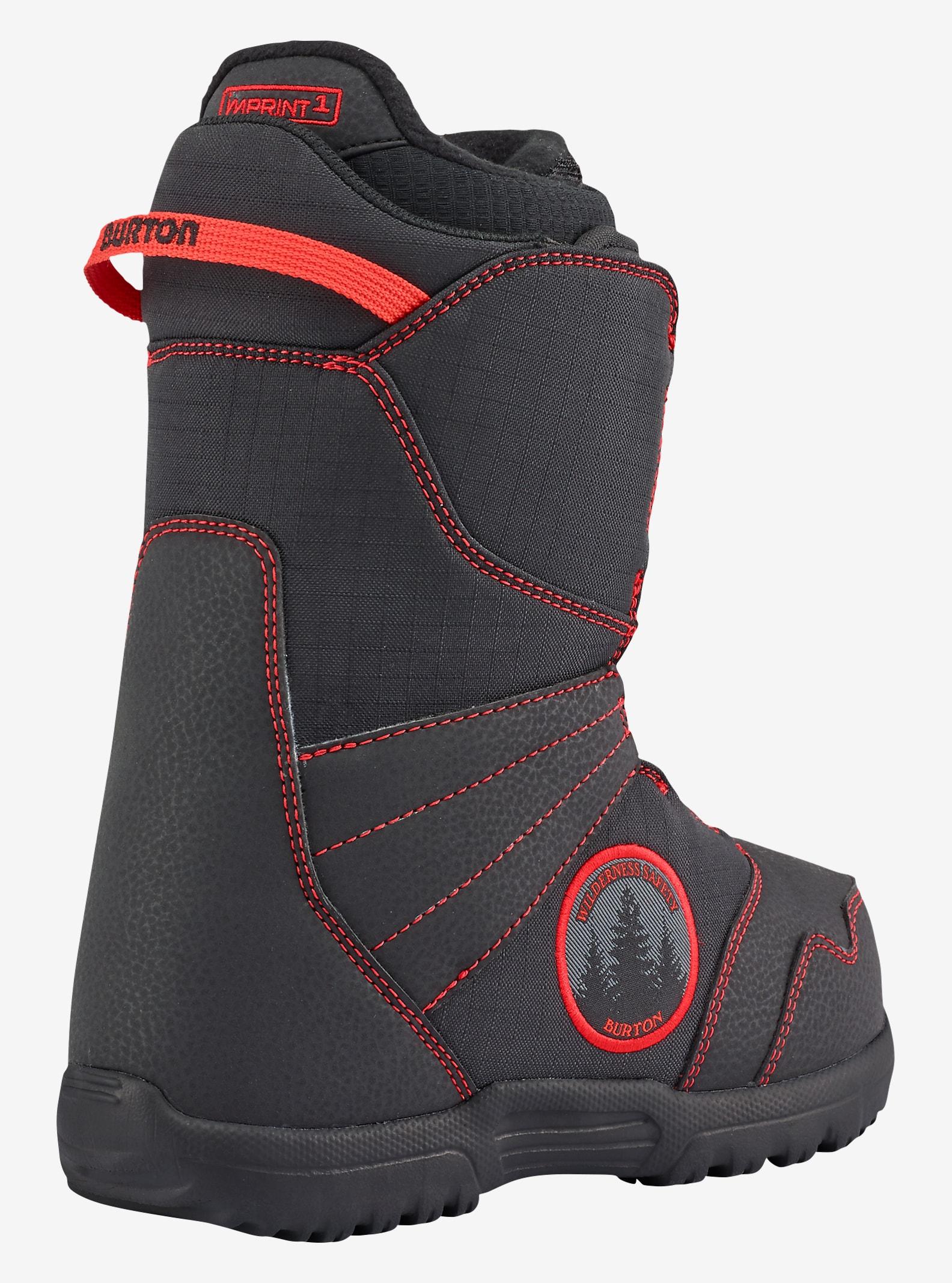 Burton Zipline Boa® Snowboard Boot shown in Black / Red