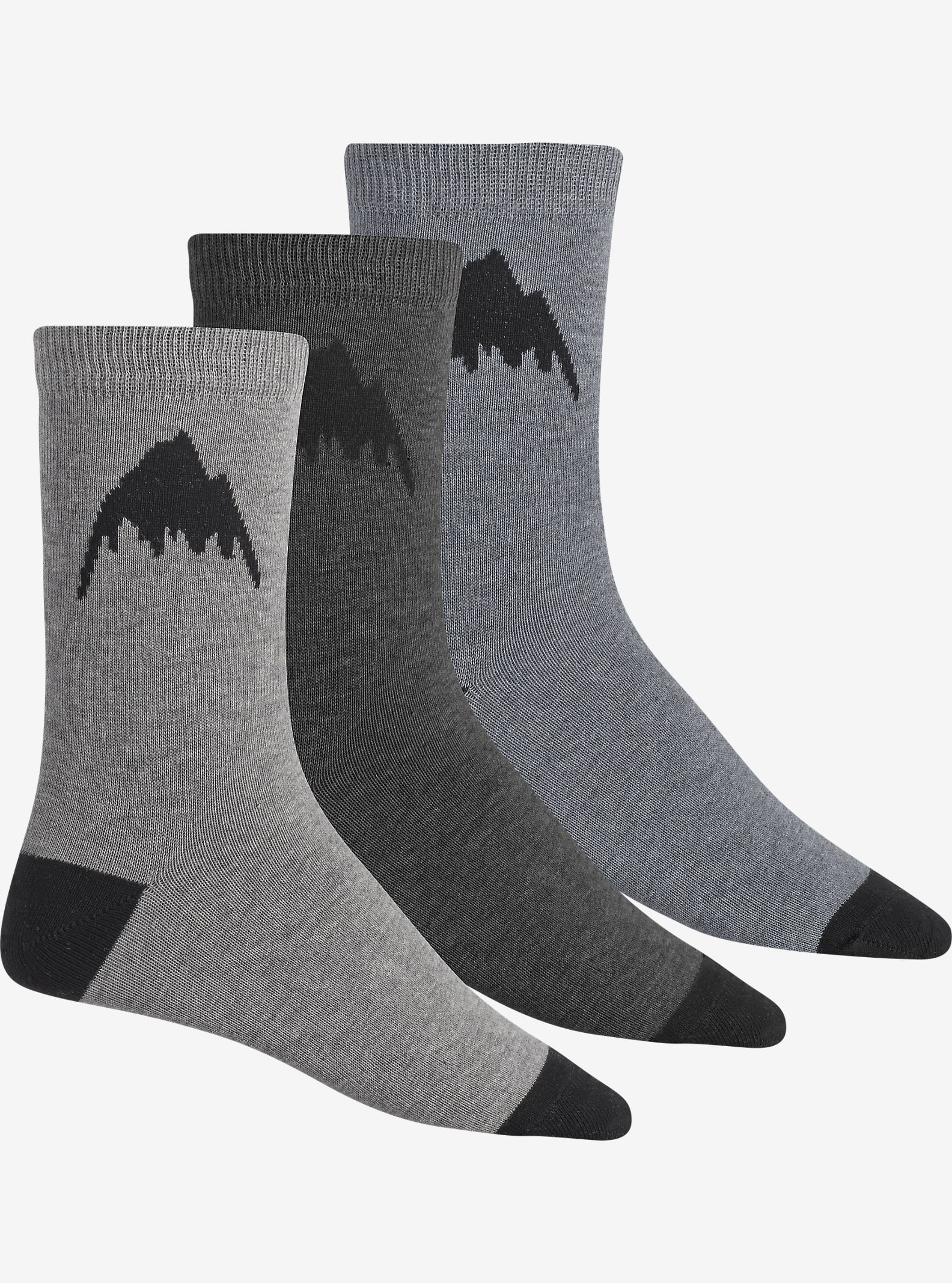 Burton Apres Sock 3 Pack shown in Heathered