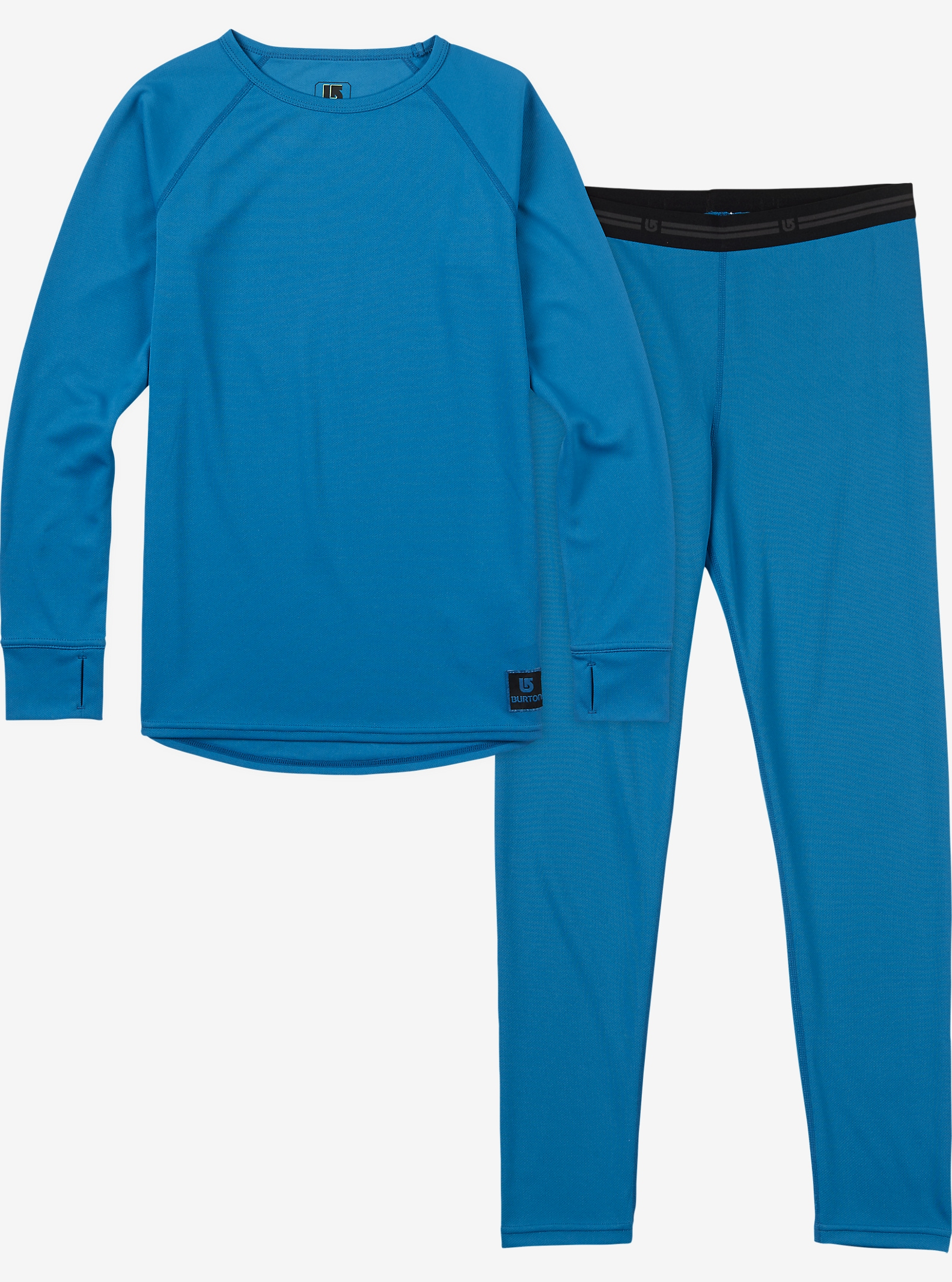 Burton Kids' Lightweight Base Layer Set shown in Glacier Blue