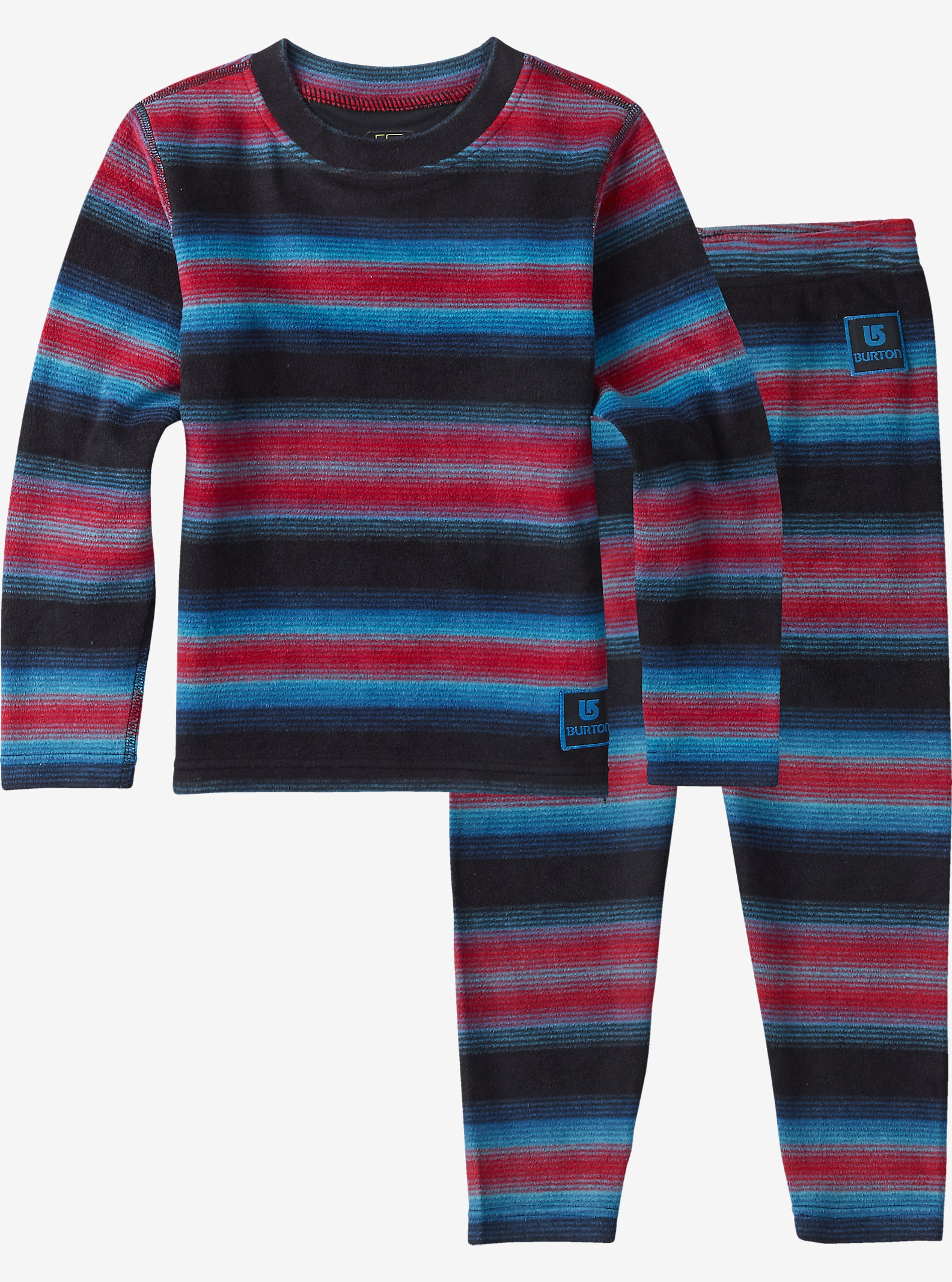 Burton Minishred Base Layer Fleece Set shown in Seaside Stripe