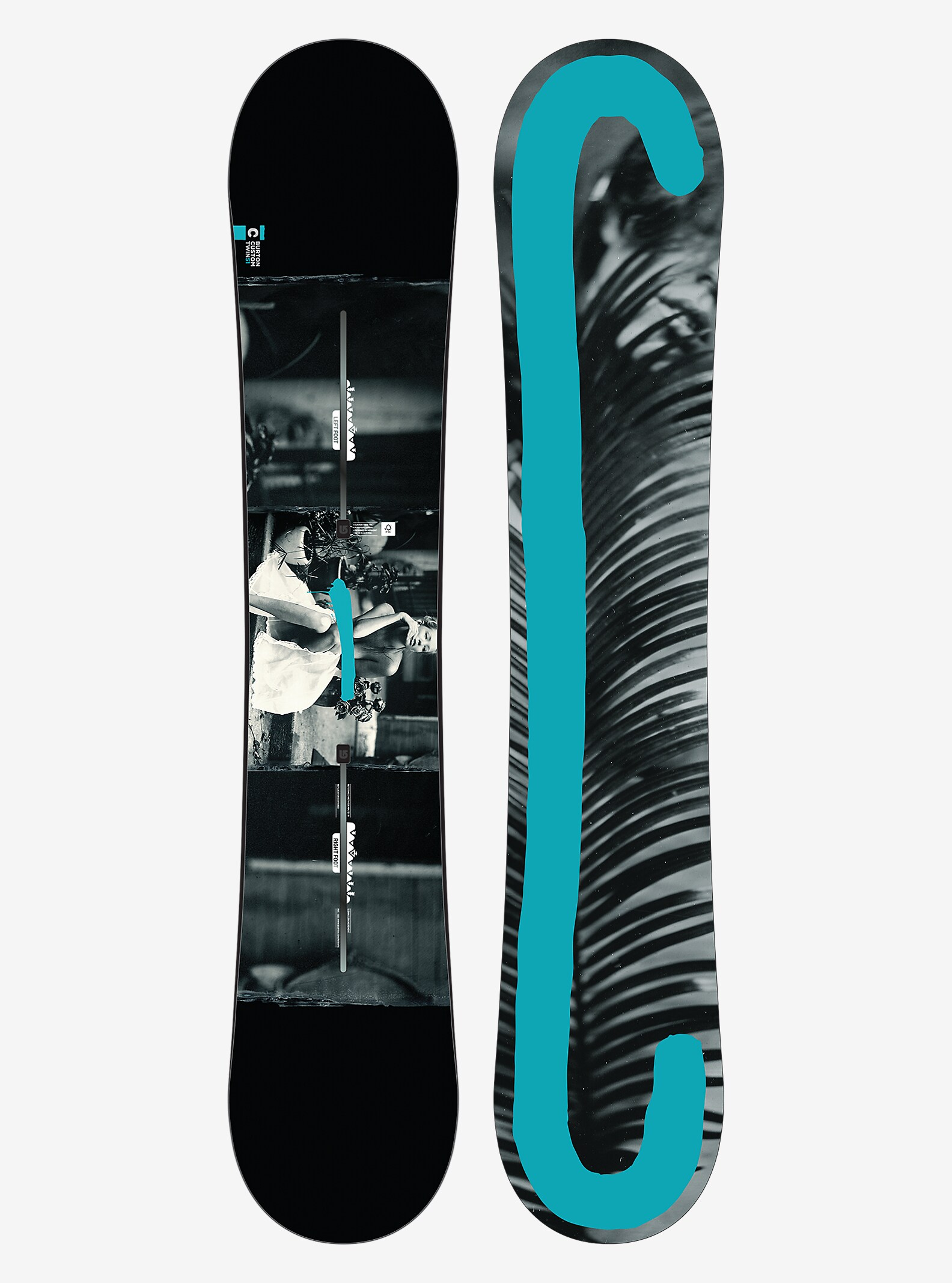 Burton Custom Twin Snowboard shown in 151