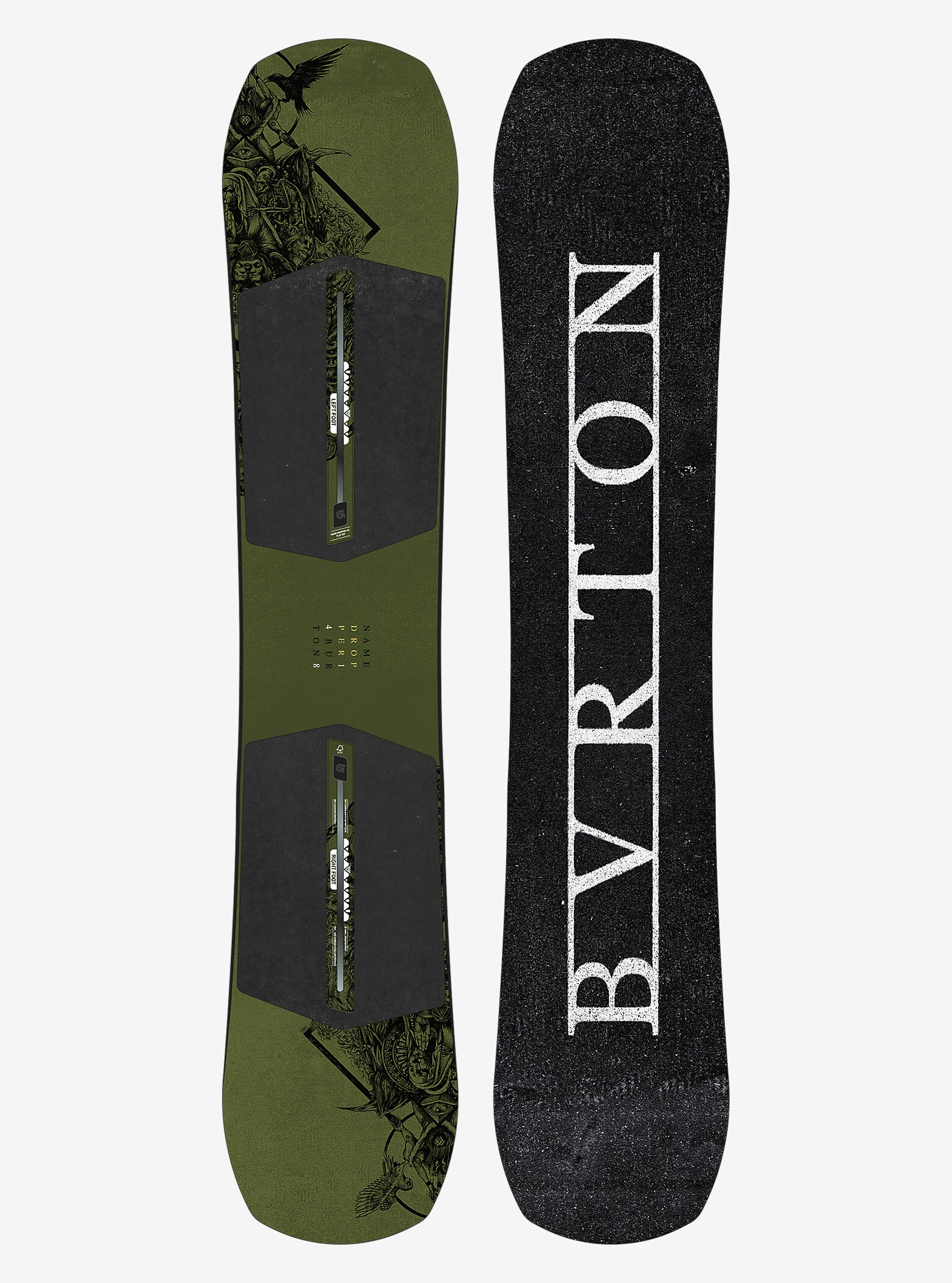 Burton Name Dropper Snowboard shown in 148