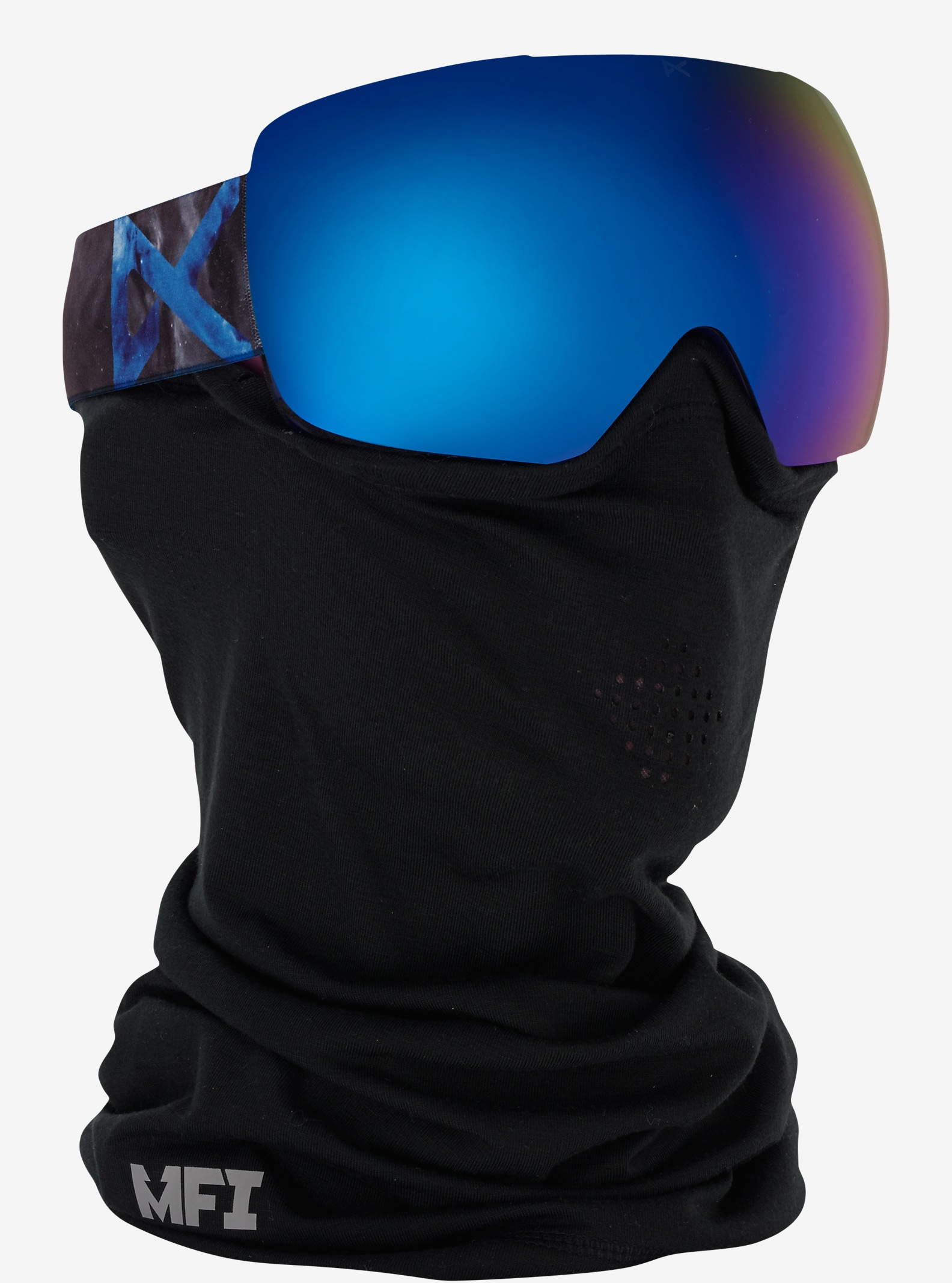 anon. Mig Goggle shown in Frame: Supernova, Lens: Blue Cobalt