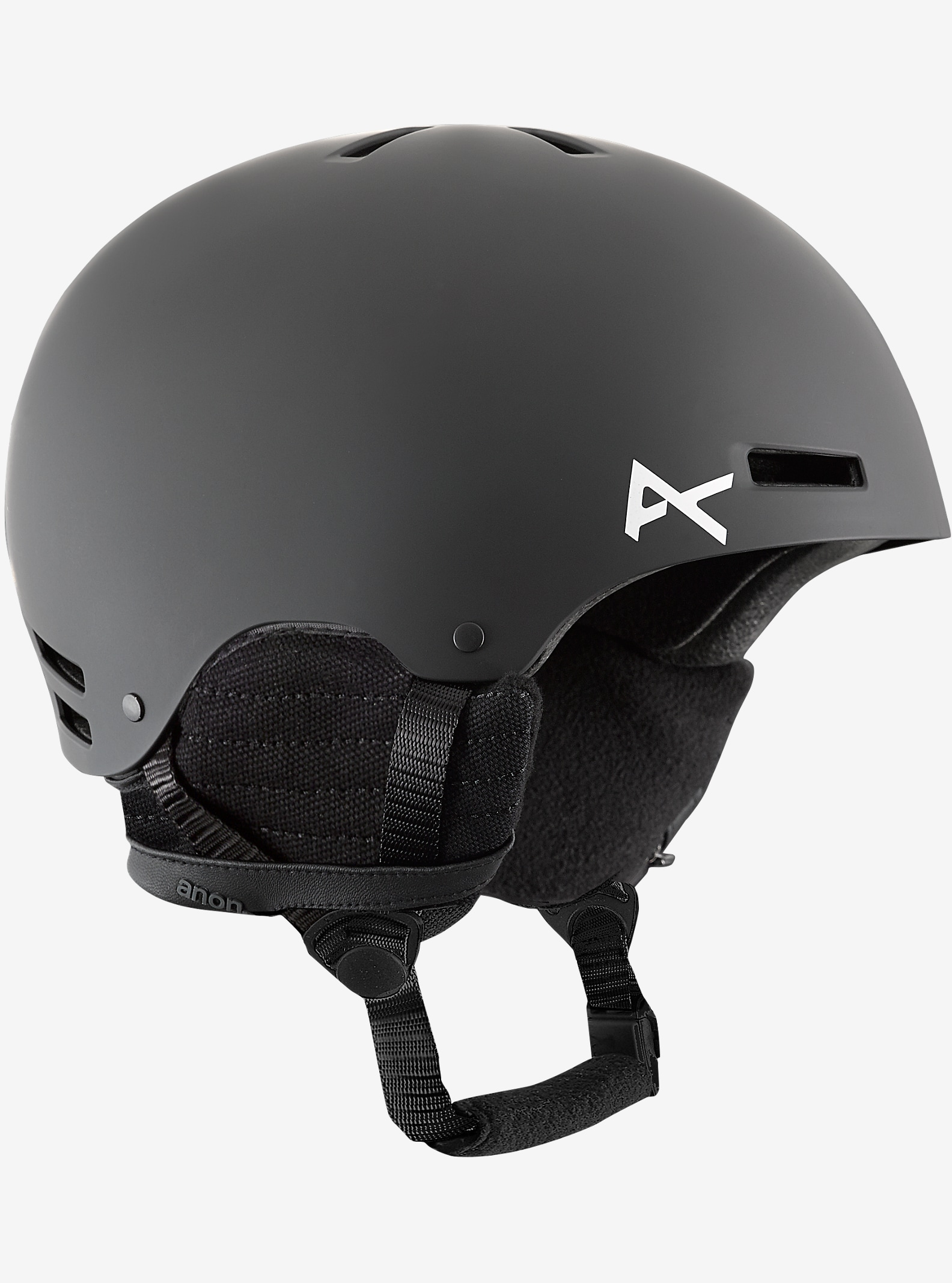 anon. Boys' Rime Helmet shown in Black