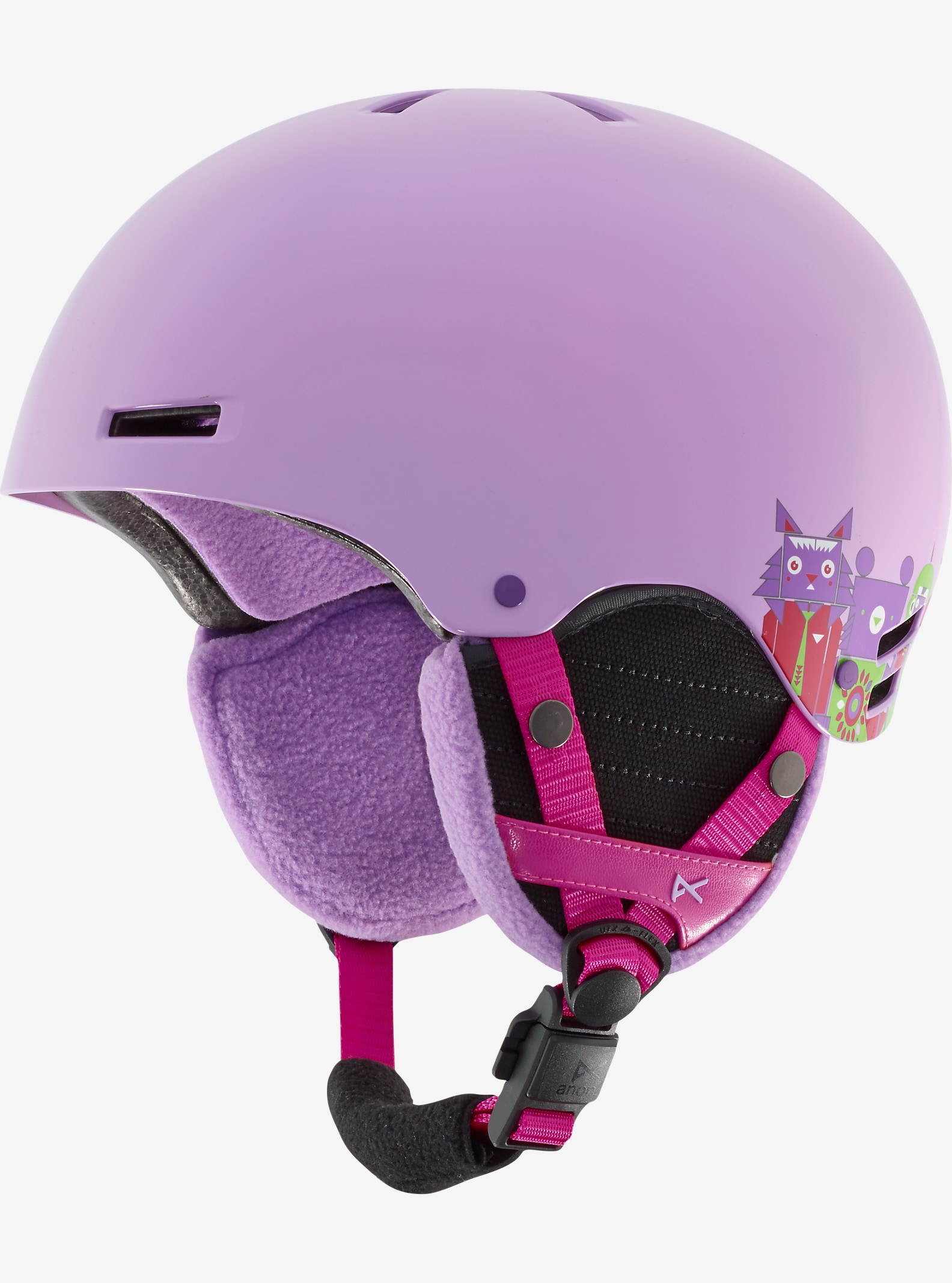 anon. Girls' Rime Helmet shown in Wildlife Purple