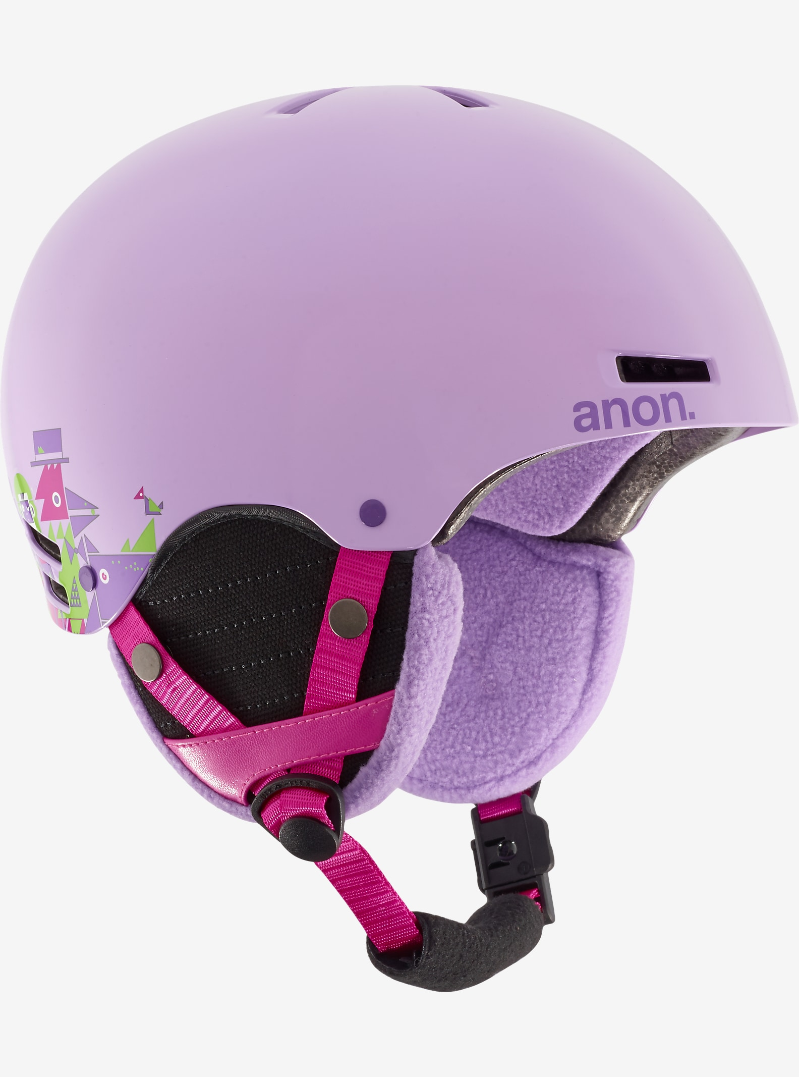 anon. - Casque Rime fille affichage en Wildlife Purple
