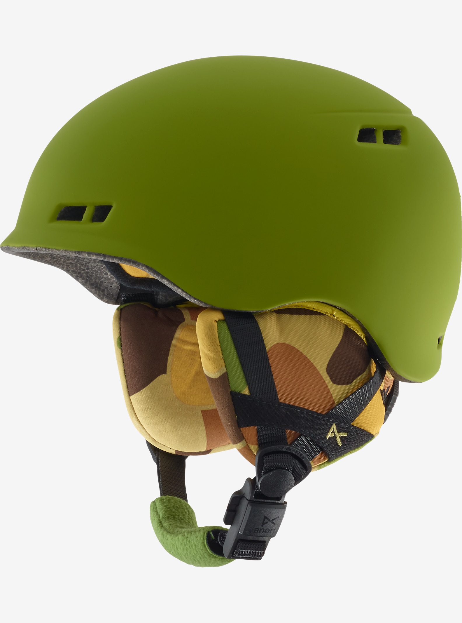 anon. Boys' Burner Helmet shown in Kamo Green