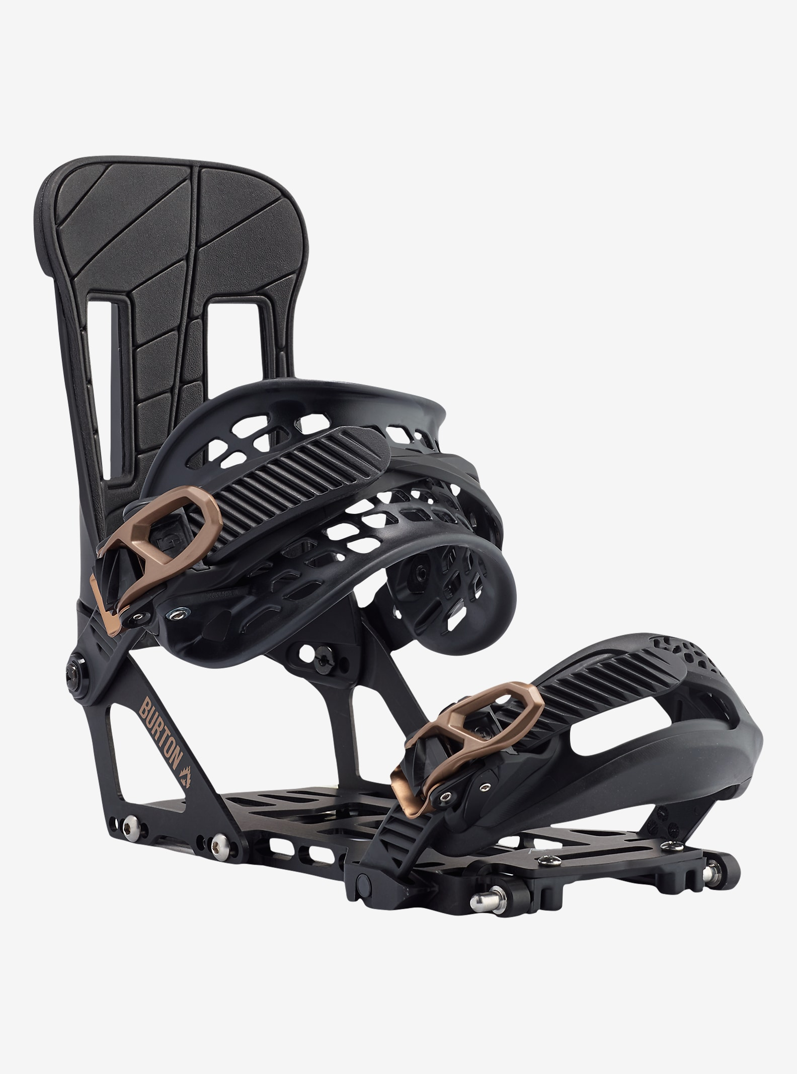 Burton Hitchhiker Snowboard Binding shown in Black Mag