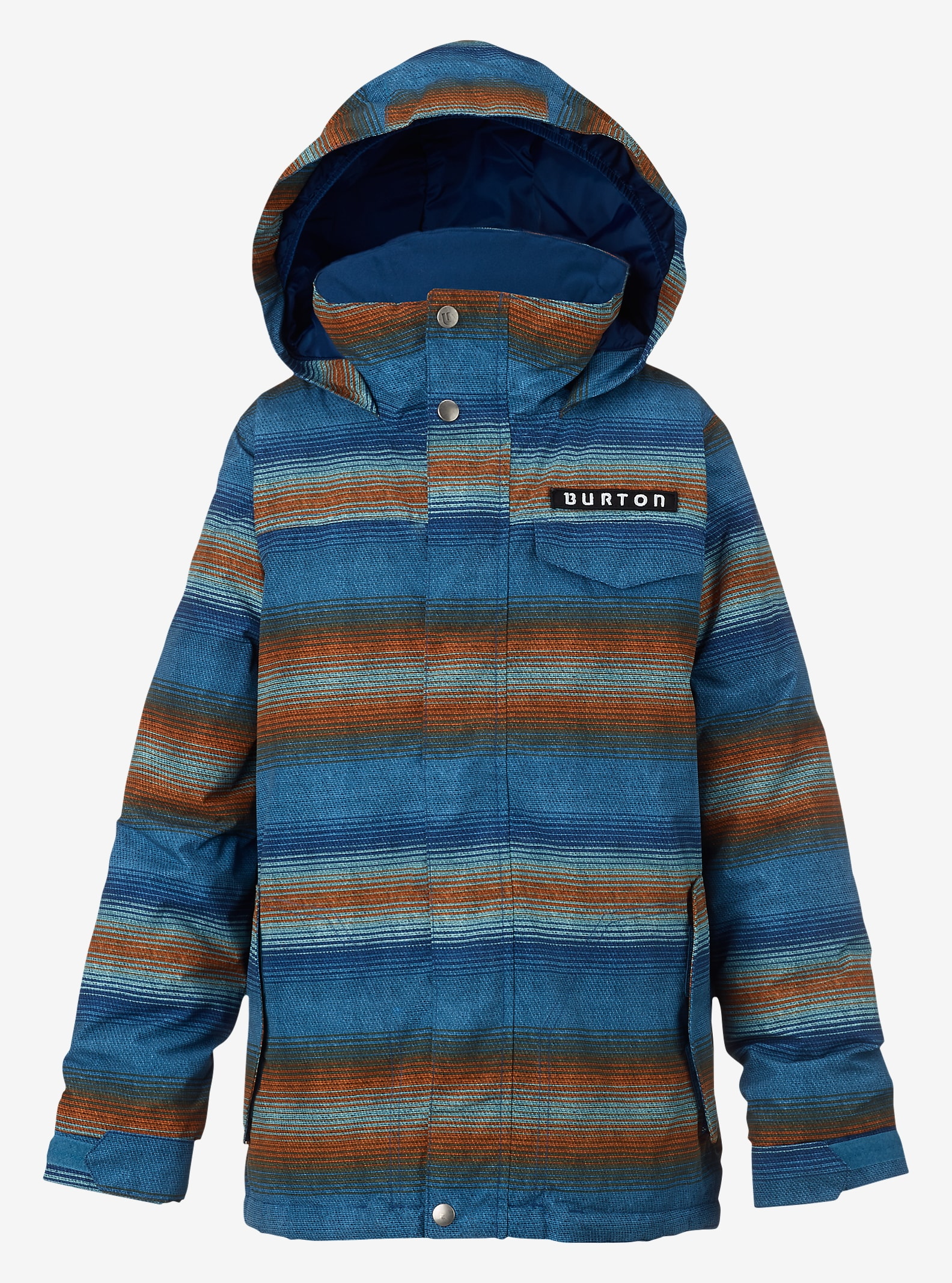 Burton Boys' Amped Jacket shown in Glacier Beach Stripe