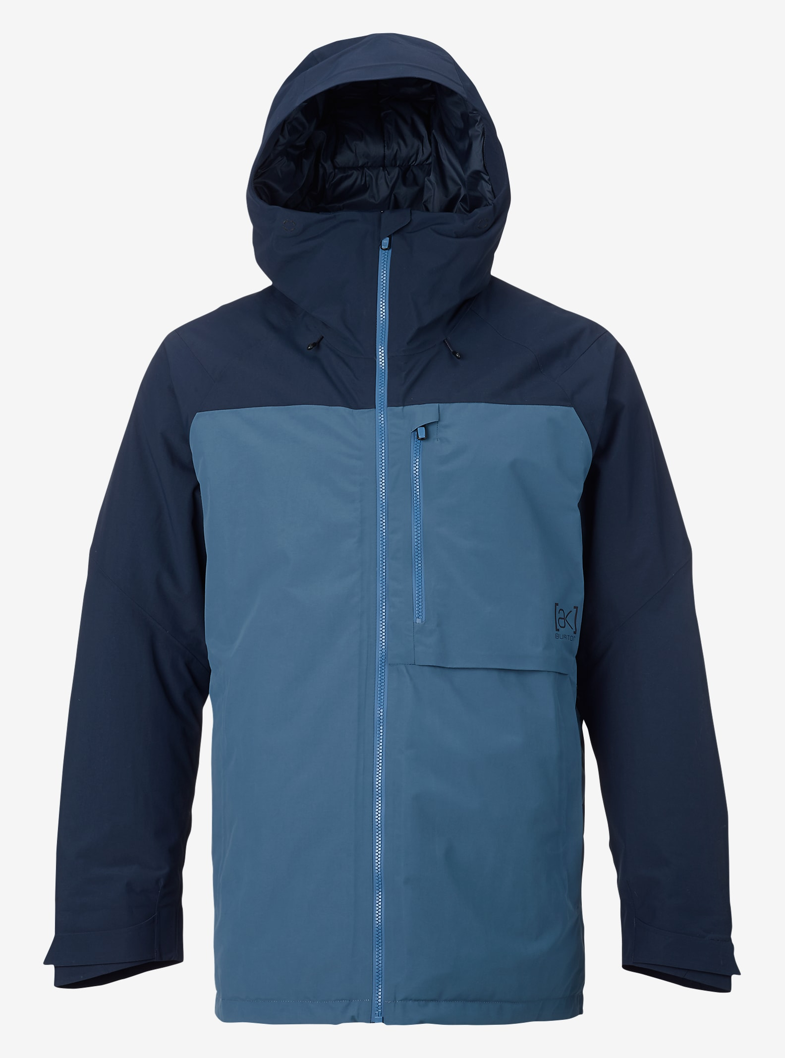 Burton [ak] 2L Helitack Jacket shown in Eclipse / Washed Blue