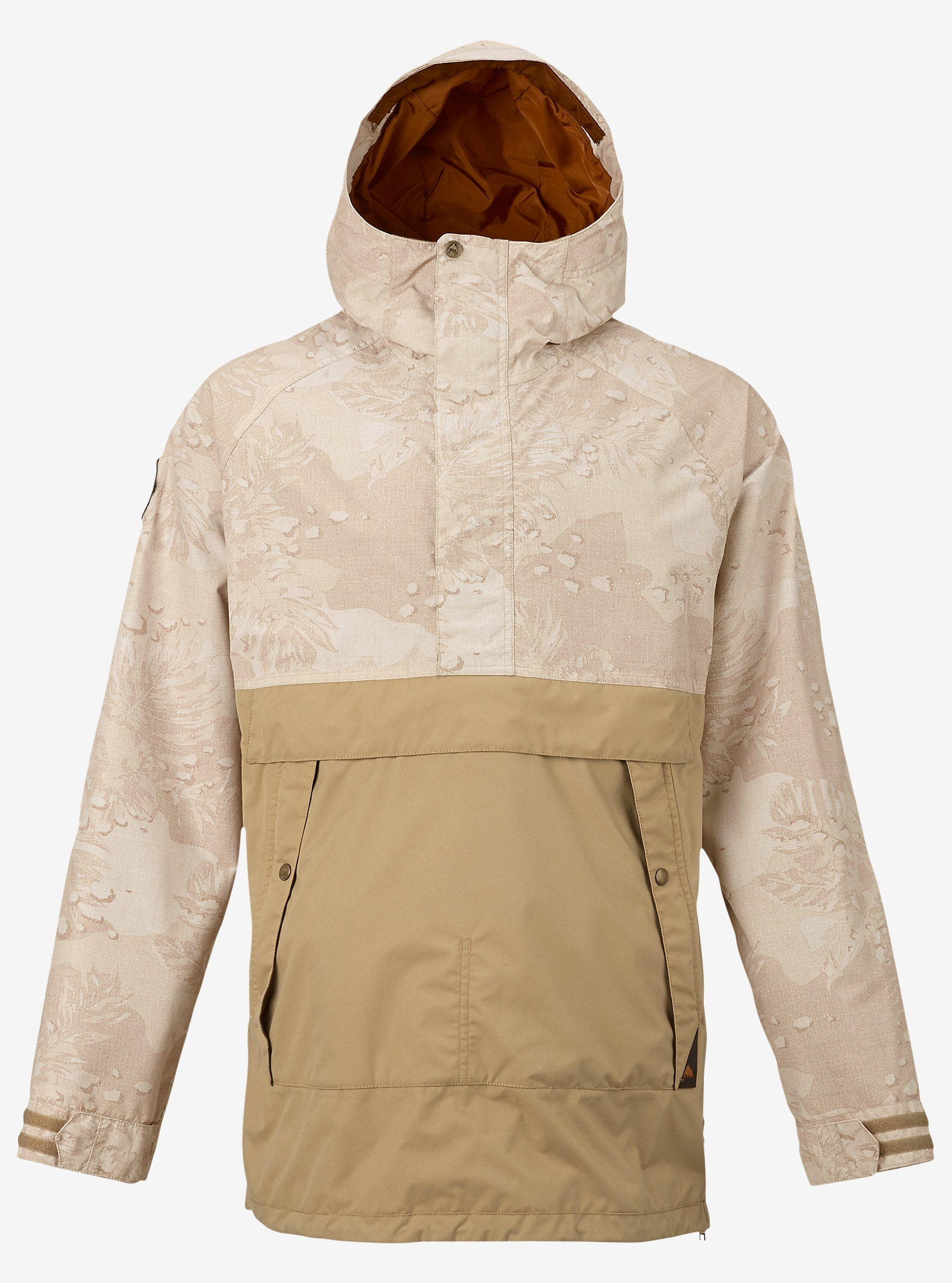 Burton Rambler Anorak Jacket shown in Hawaiian Desert / Kelp