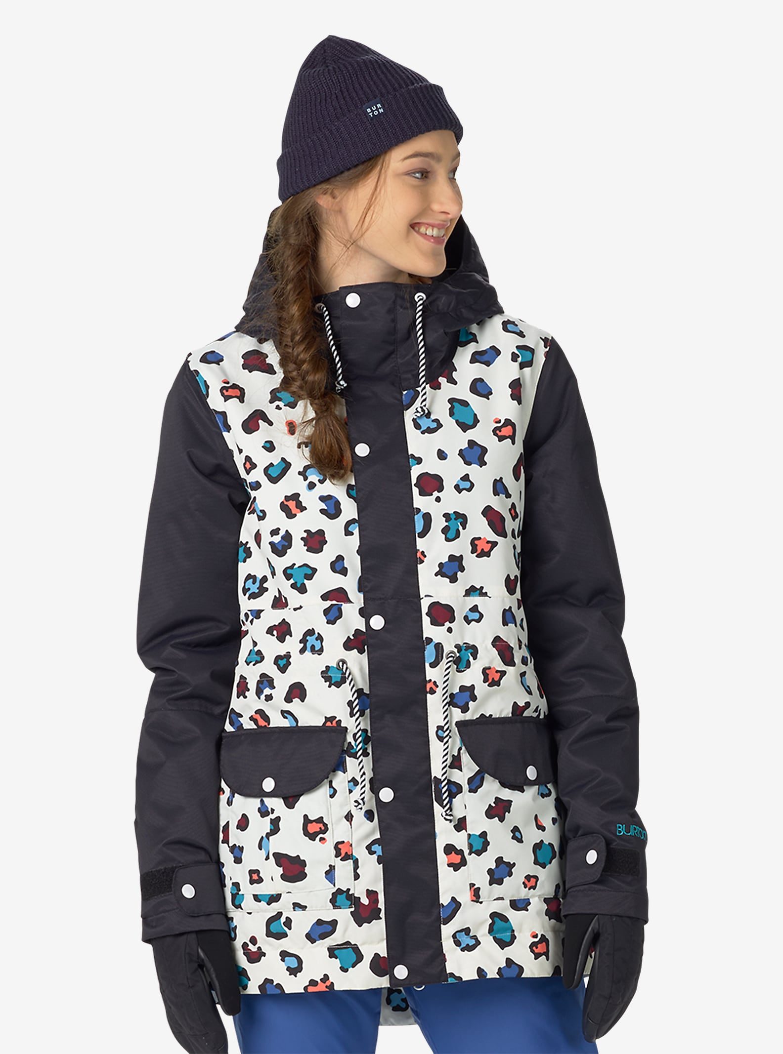 Burton TWC Troublemaker Jacket shown in Rainbow Cheetah / True Black