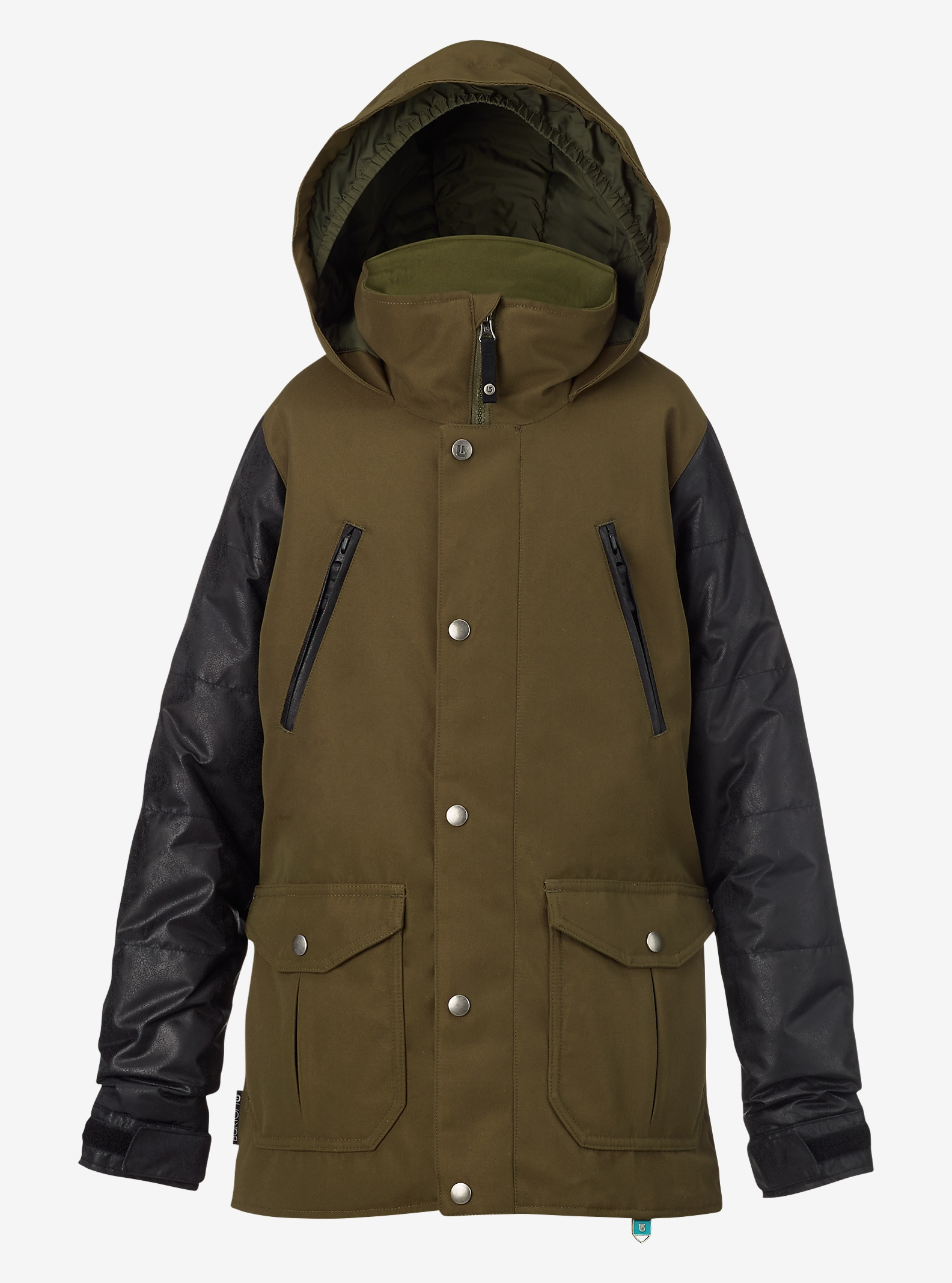 Burton pour fille - Trench Ava affichage en Keef / Black Leather