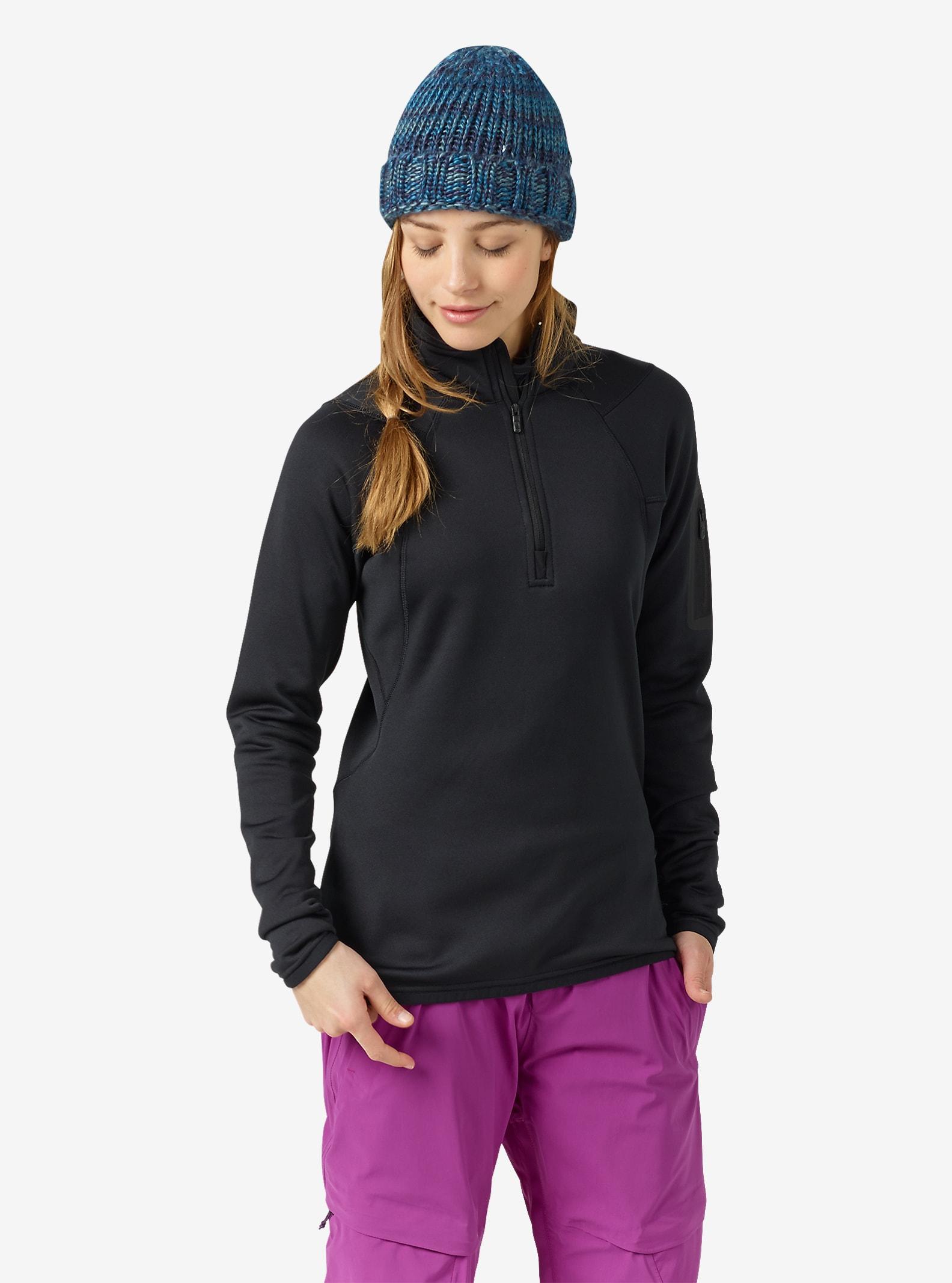 Burton [ak] Women's Lift Half Zip Fleece shown in True Black