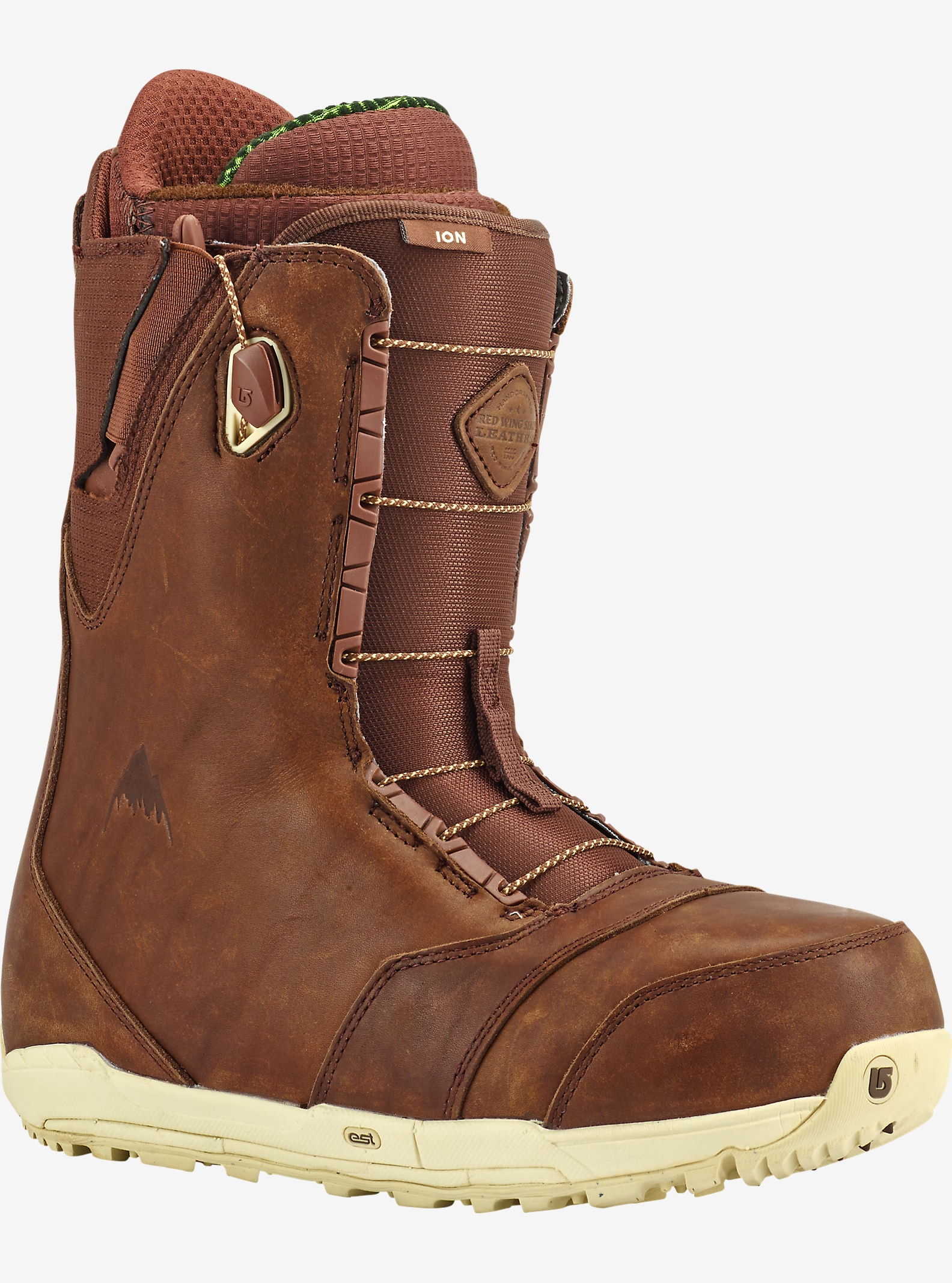 Red Wing® x Burton Ion Leather Snowboard Boot shown in Red Wing