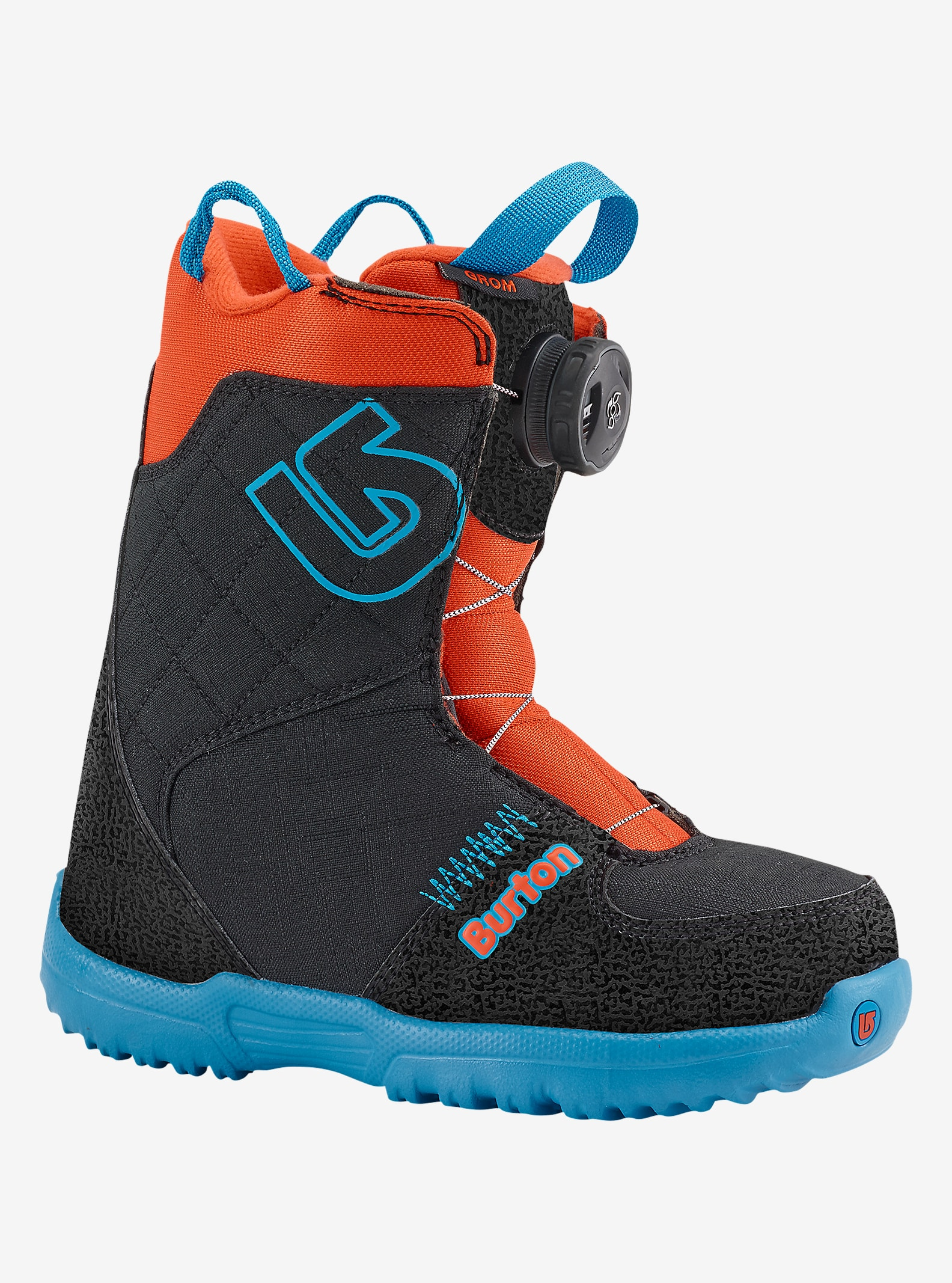 Burton Grom Boa® Snowboard Boot shown in Webslinger Blue