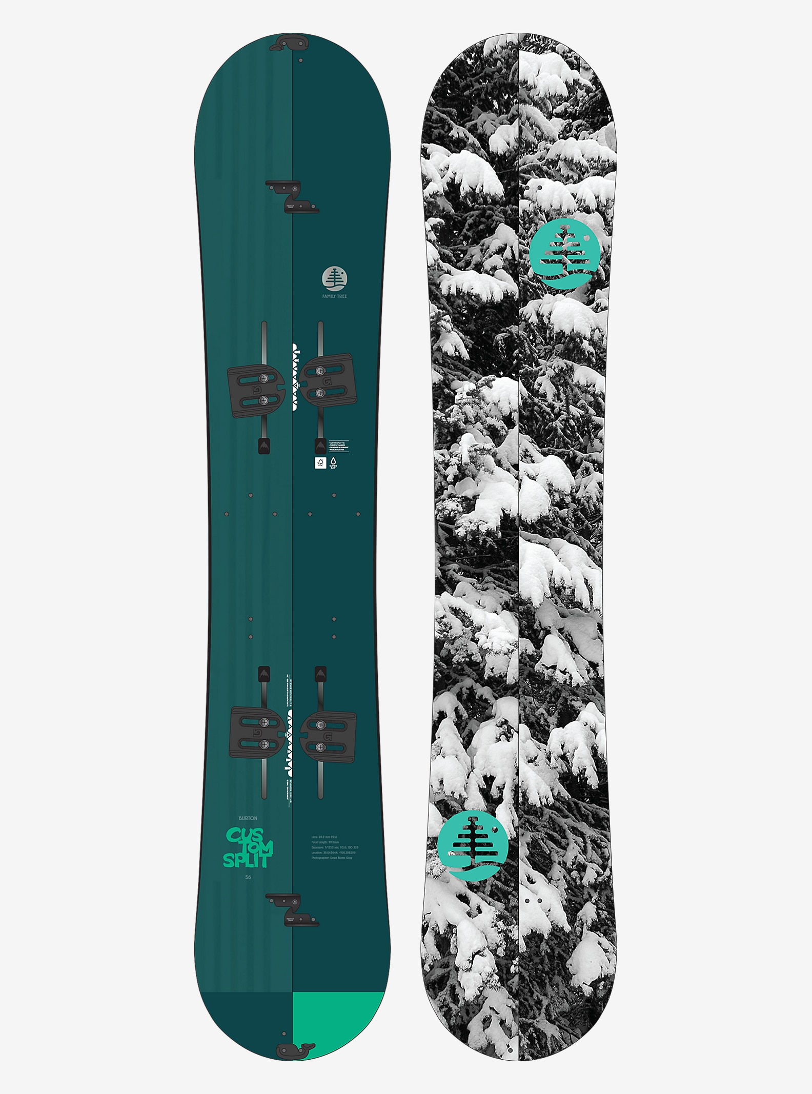 Burton Family Tree Custom Split Snowboard shown in 156