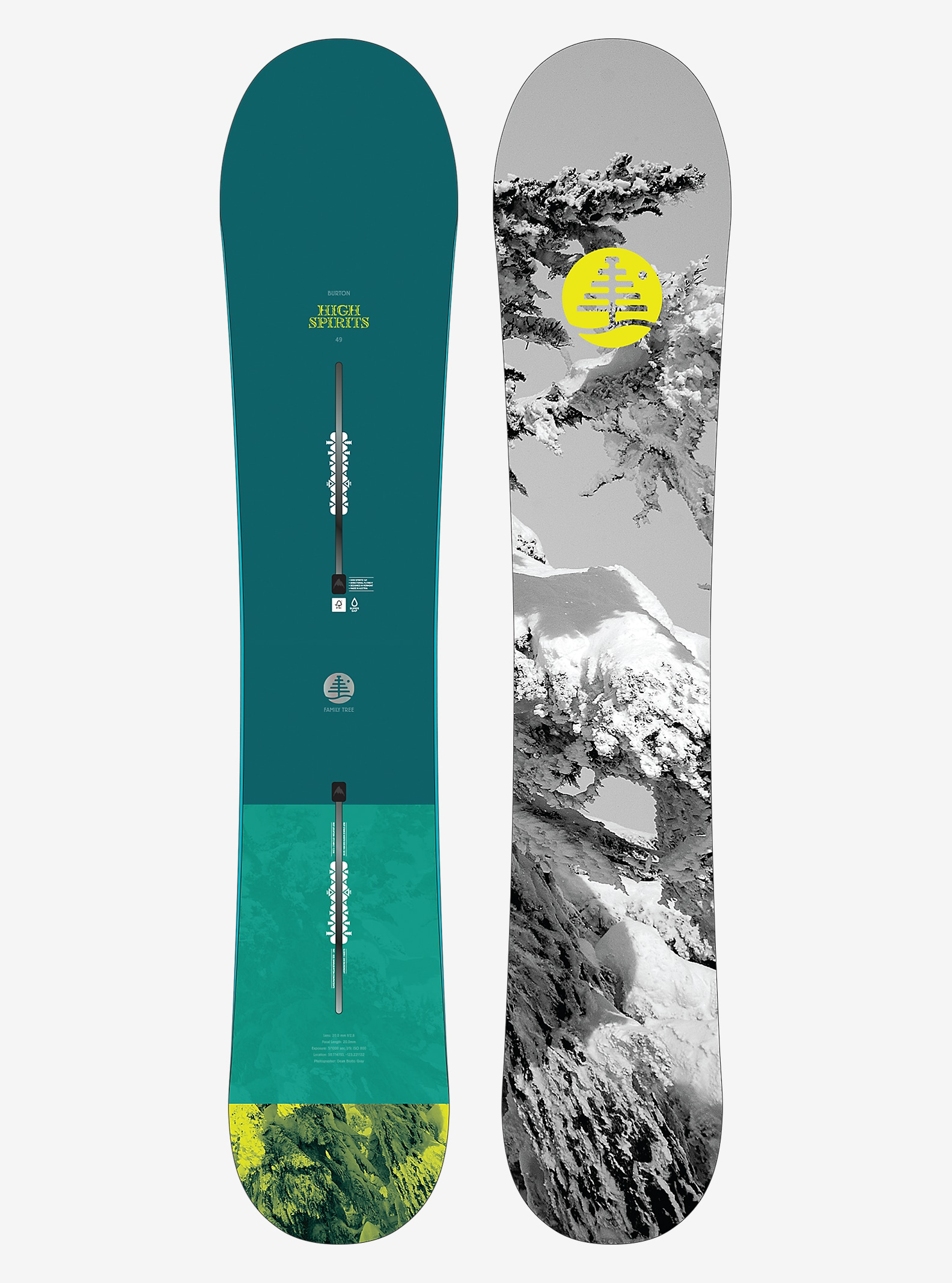 Burton Family Tree High Spirits Snowboard shown in 149