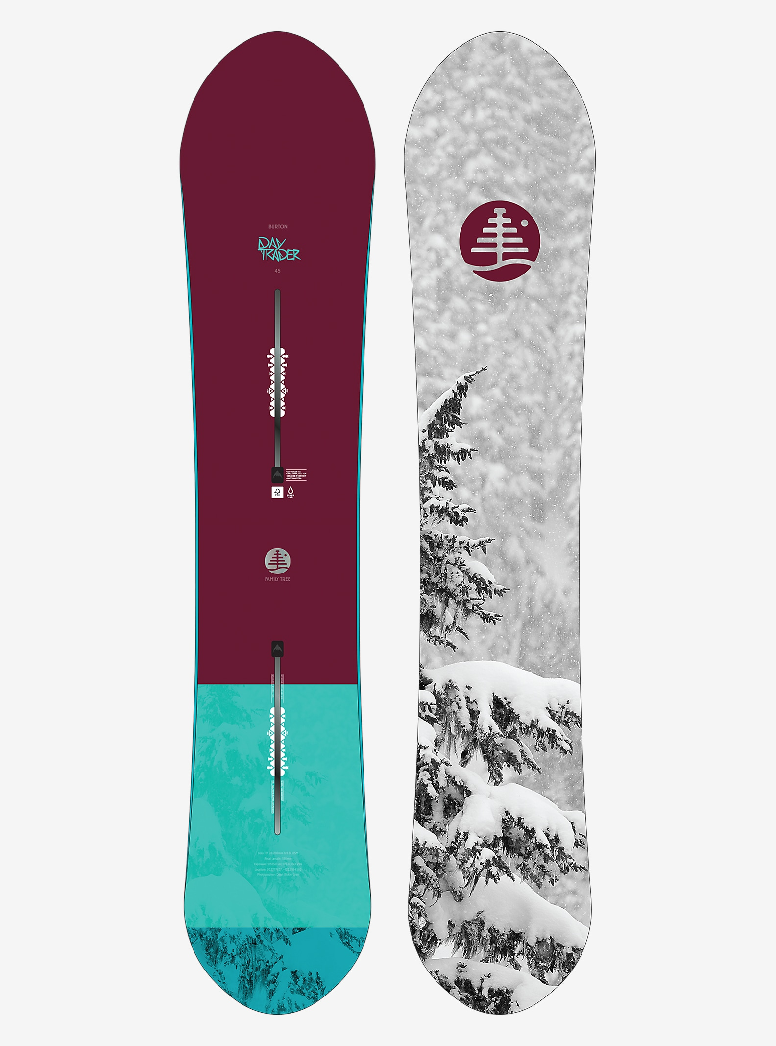 Burton Family Tree Day Trader Snowboard shown in 145