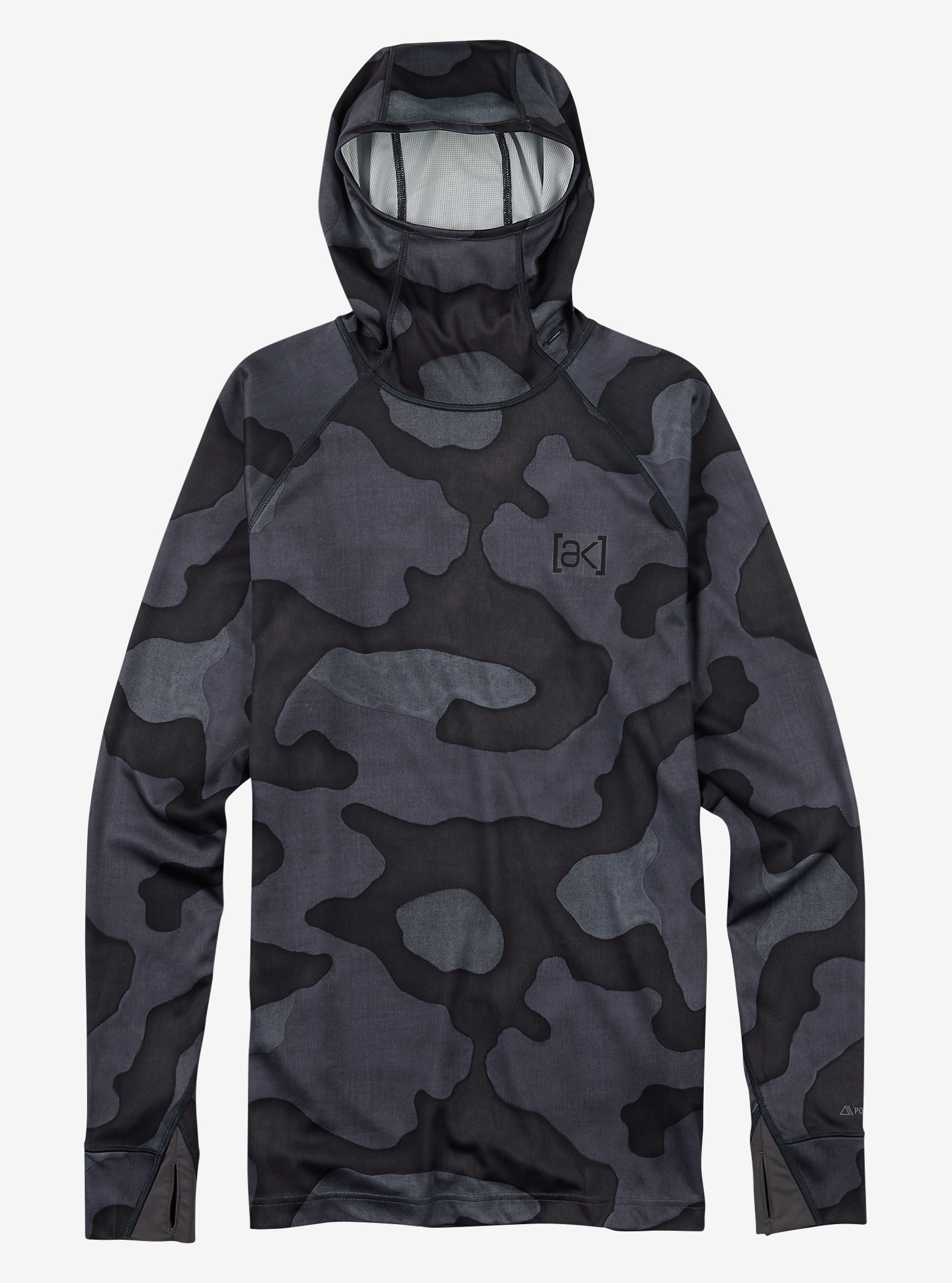 Burton [ak] Power Grid® Hood shown in Black Hombre Camo