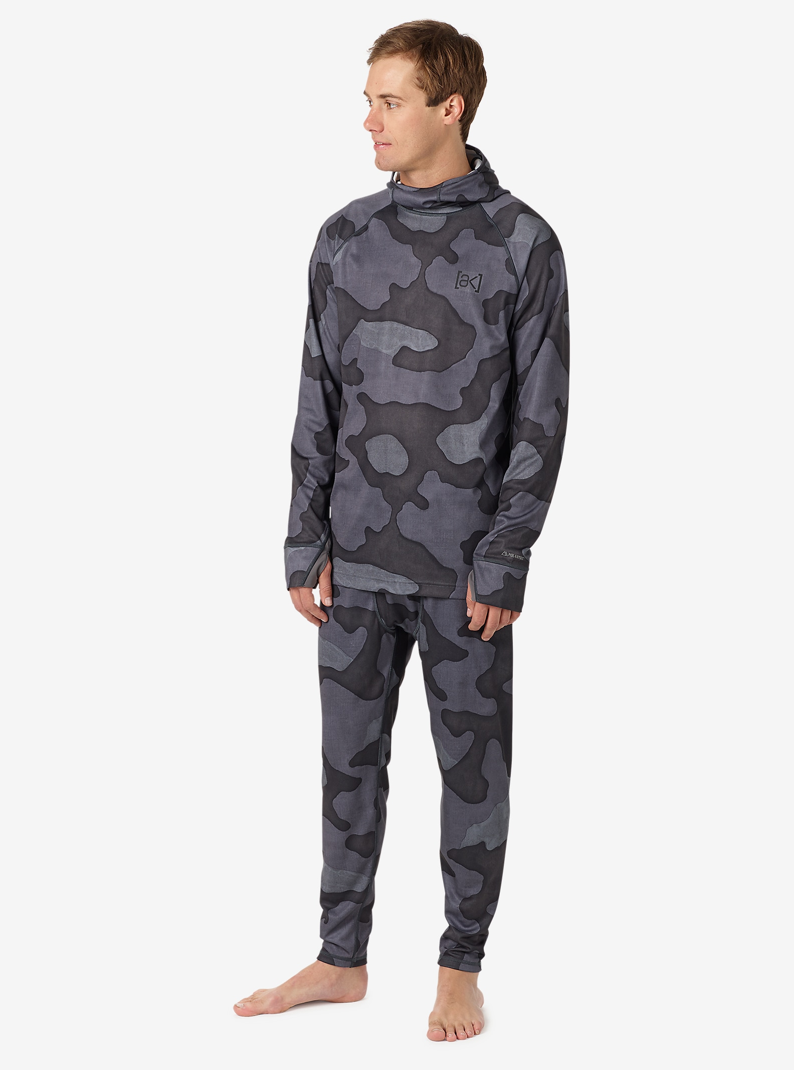 Burton [ak] Power Grid® Hoodie angezeigt in Black Hombre Camo