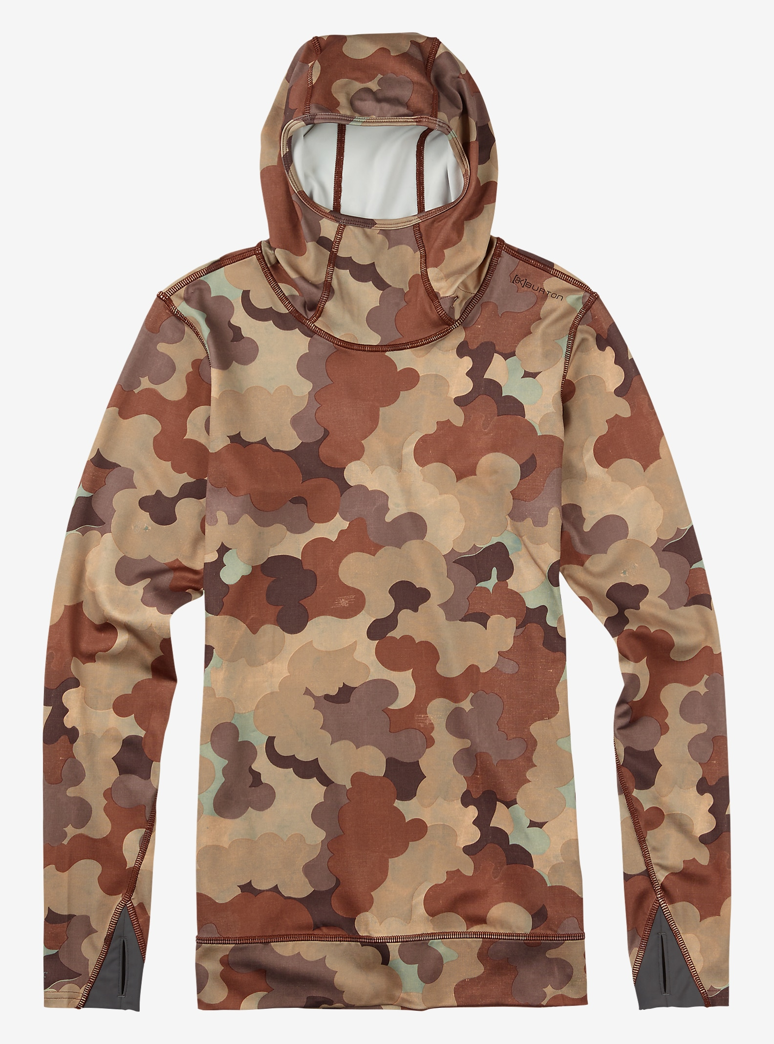 Burton Women's [ak] Power Stretch® Hood shown in Storm Camo