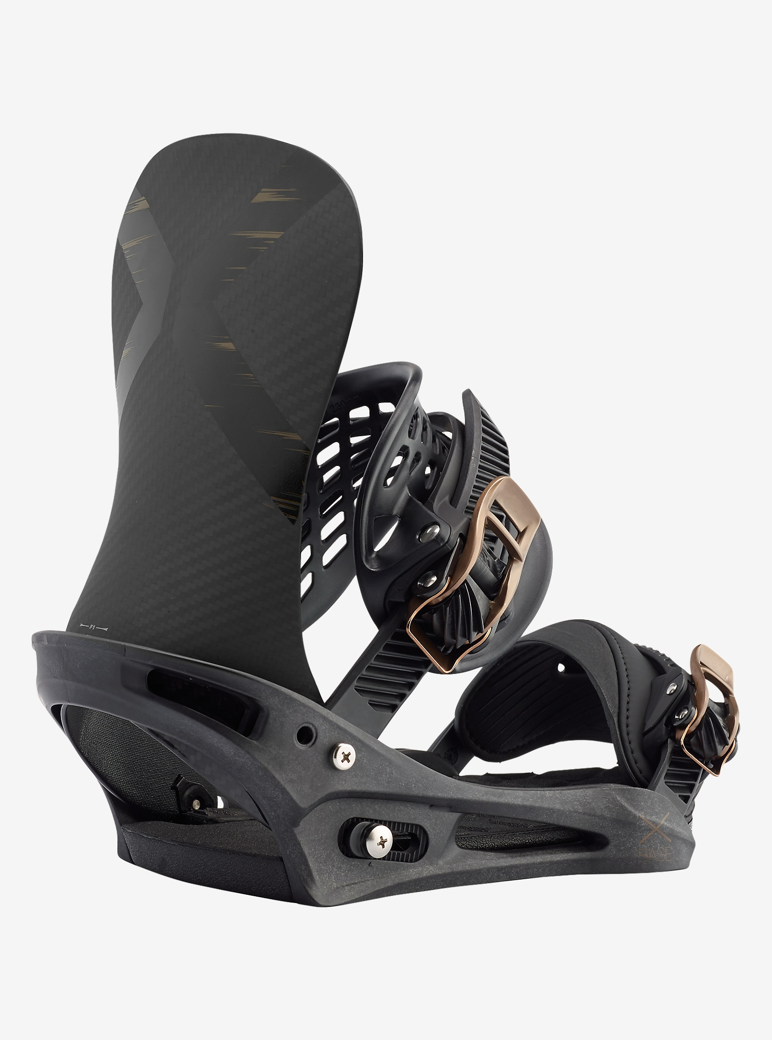 Burton X-Base Snowboard Binding shown in Black Mag