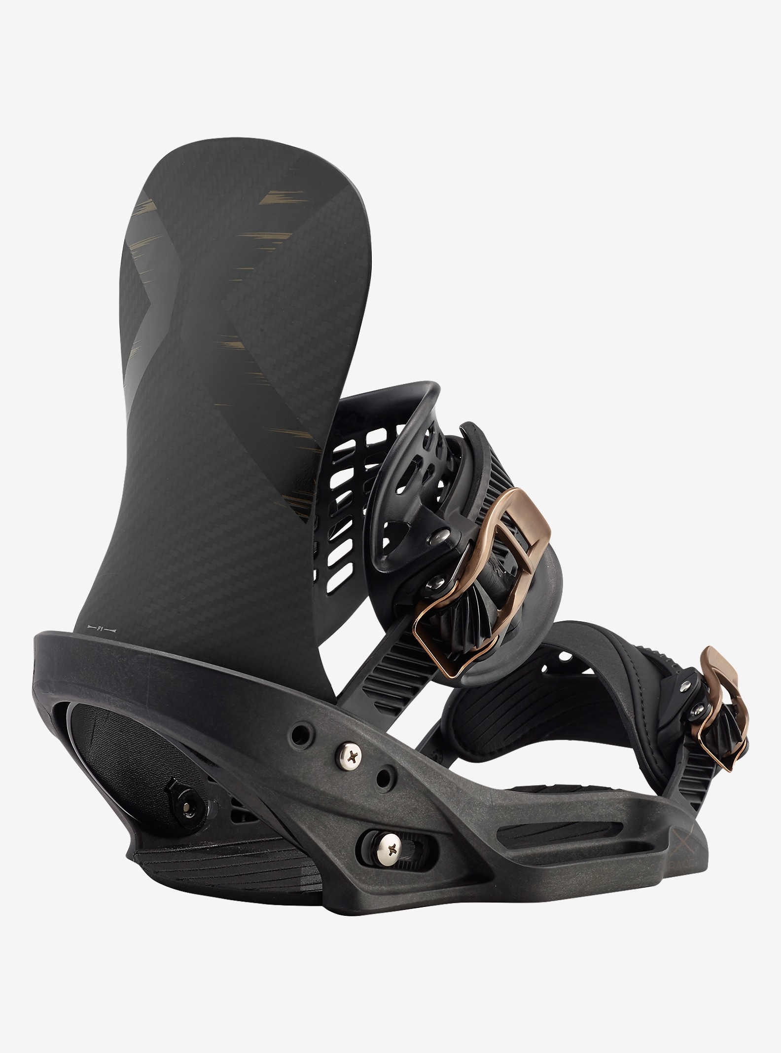 Burton X-Base EST Snowboard Binding shown in Black Mag